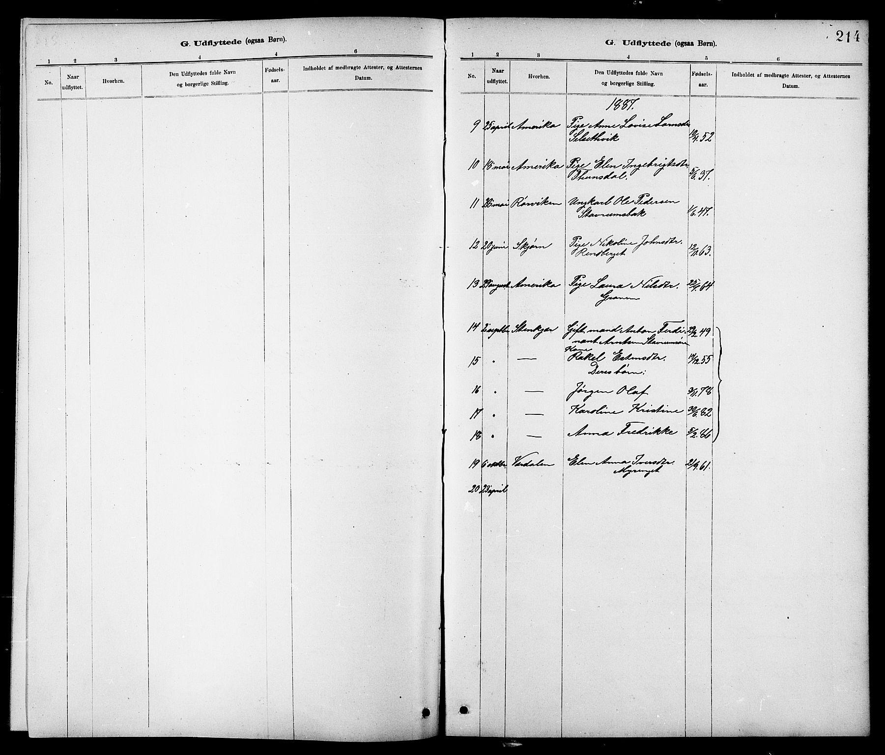 SAT, Ministerialprotokoller, klokkerbøker og fødselsregistre - Nord-Trøndelag, 744/L0423: Klokkerbok nr. 744C02, 1886-1905, s. 214