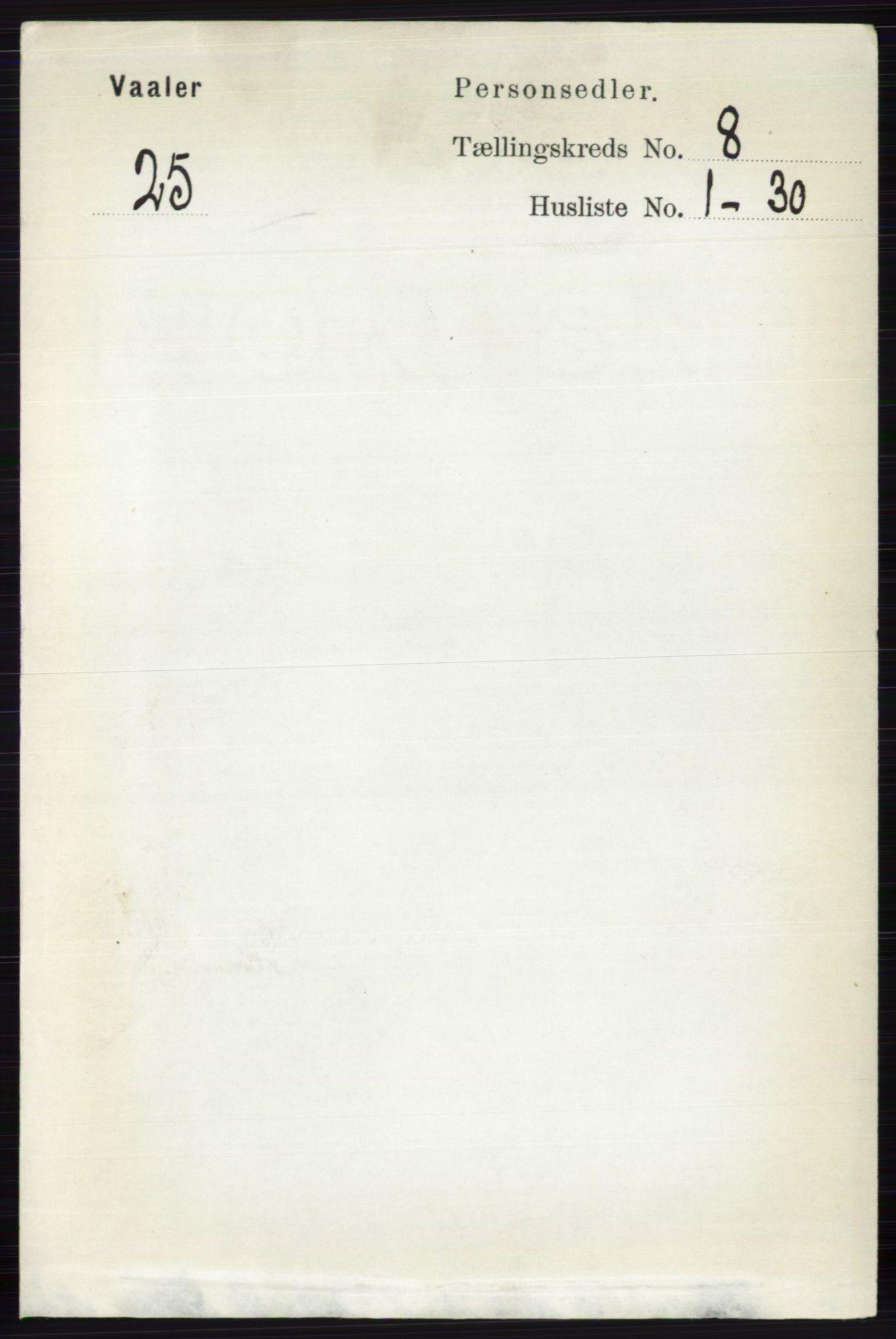 RA, Folketelling 1891 for 0426 Våler herred, 1891, s. 3351