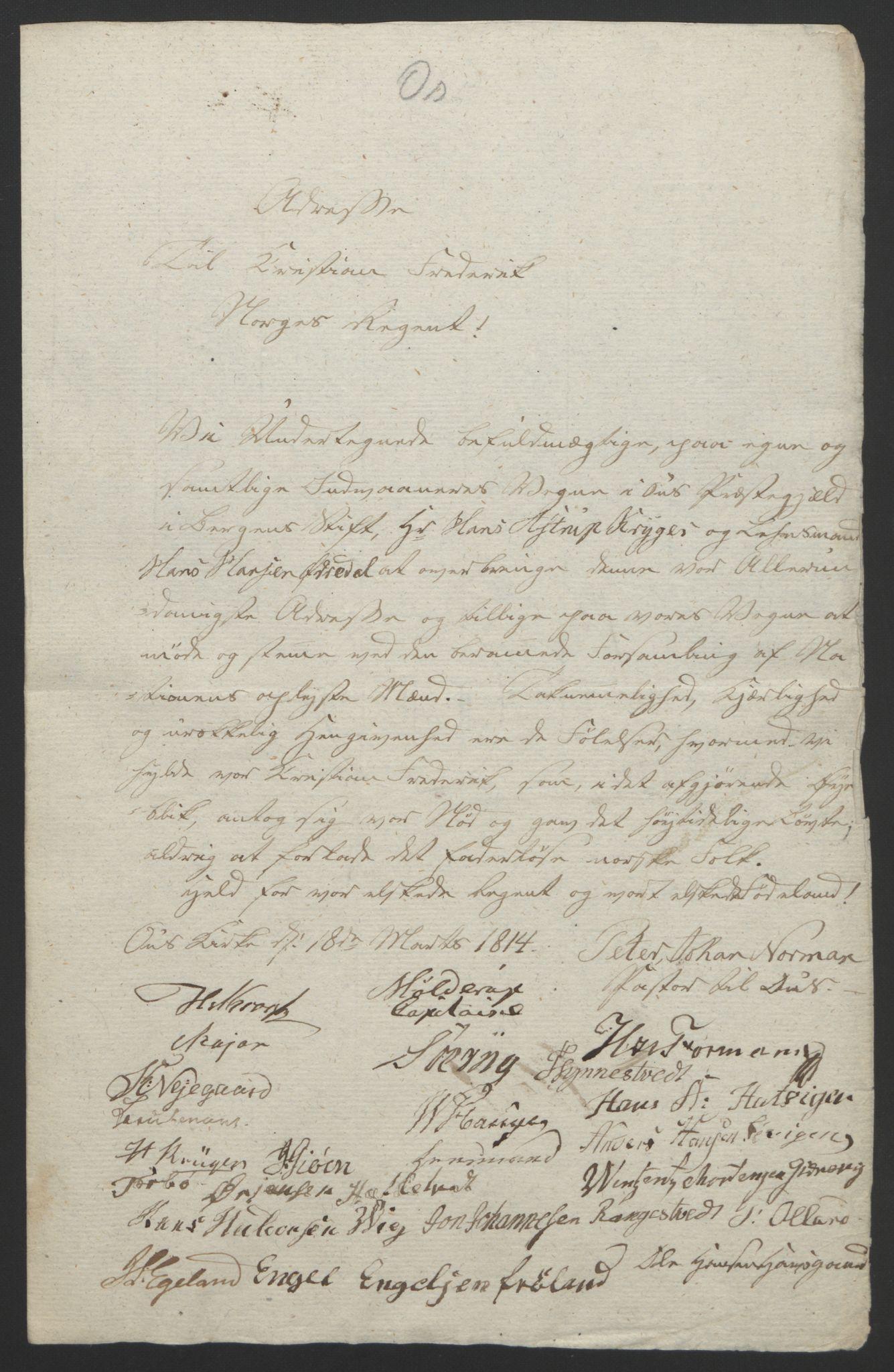 RA, Statsrådssekretariatet, D/Db/L0008: Fullmakter for Eidsvollsrepresentantene i 1814. , 1814, s. 293
