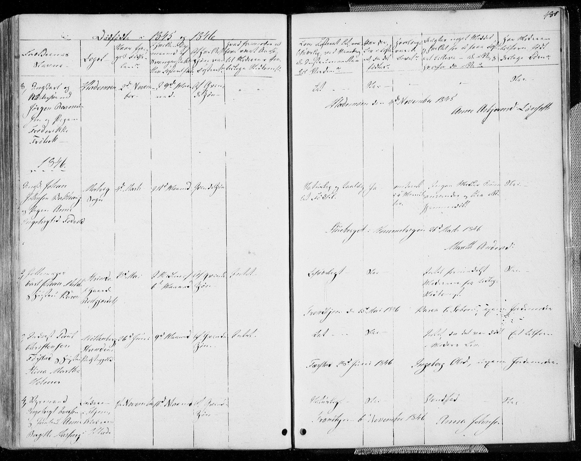 SAT, Ministerialprotokoller, klokkerbøker og fødselsregistre - Sør-Trøndelag, 606/L0290: Ministerialbok nr. 606A05, 1841-1847, s. 480