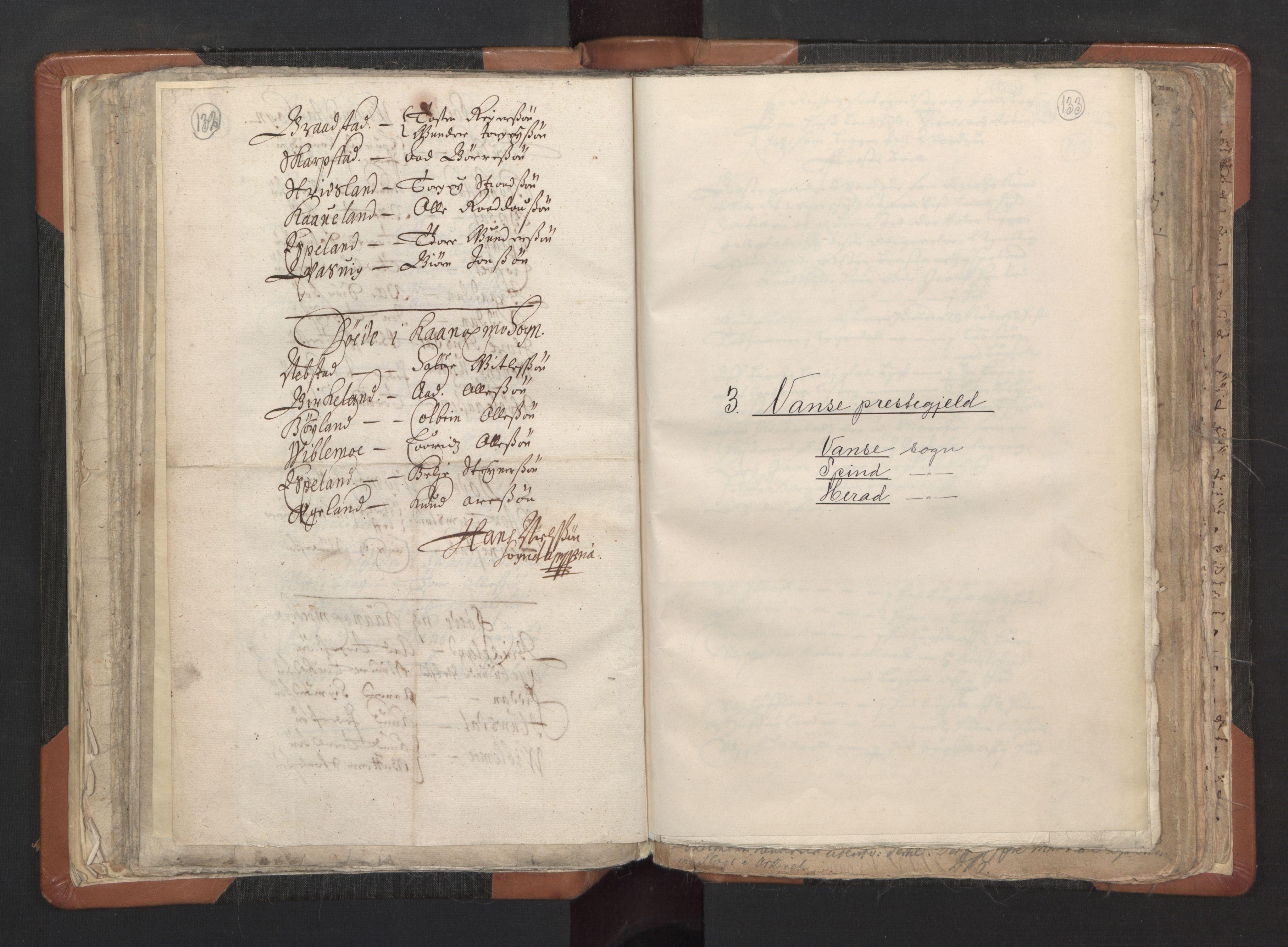RA, Sogneprestenes manntall 1664-1666, nr. 16: Lista prosti, 1664-1666, s. 132-133