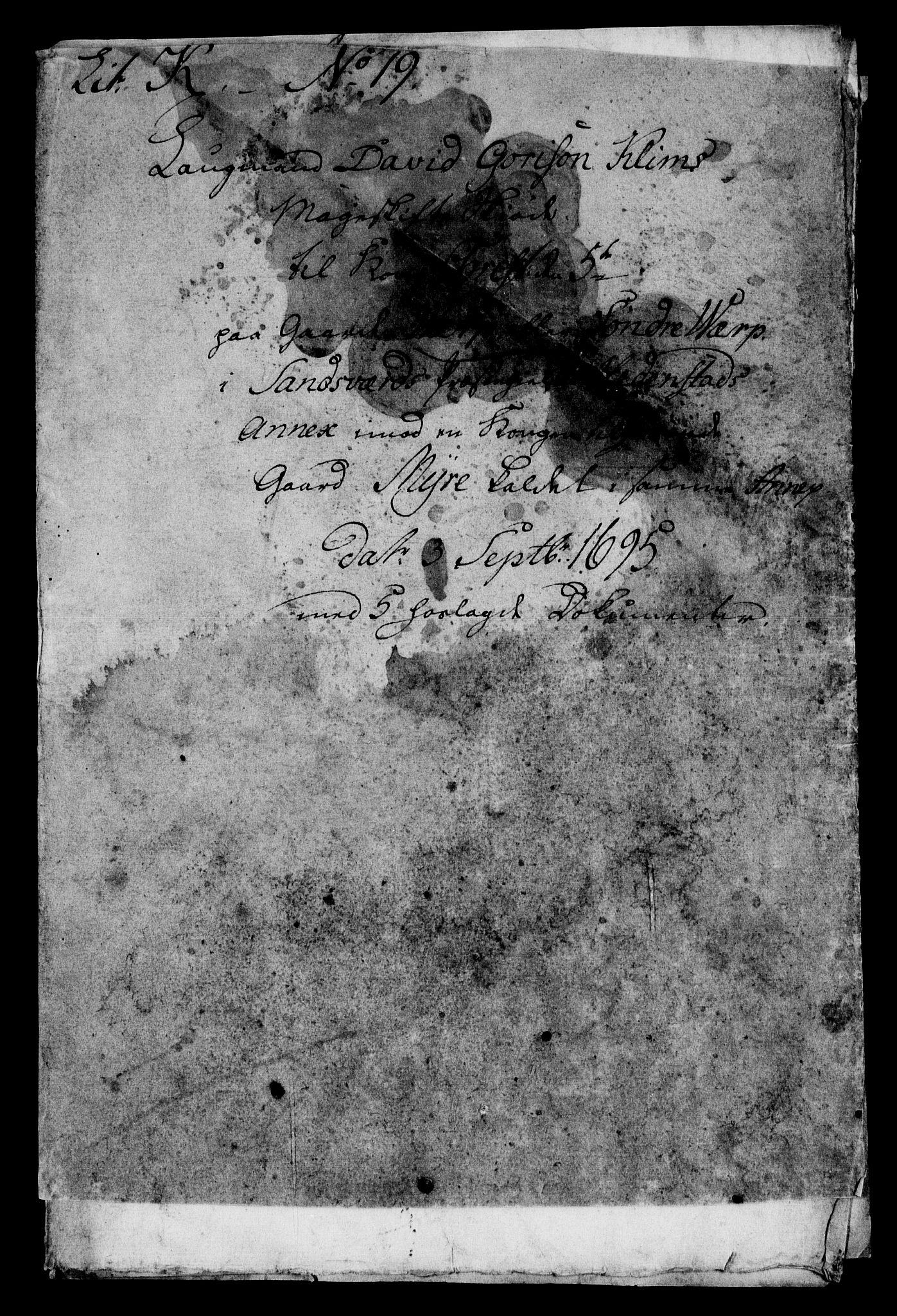 RA, Rentekammeret inntil 1814, Realistisk ordnet avdeling, On/L0009: [Jj 9]: Forskjellige skjøter og makeskifter med kirker og prestebord. Ervervelsen av Vallø saltverks eiendommer, s. 25