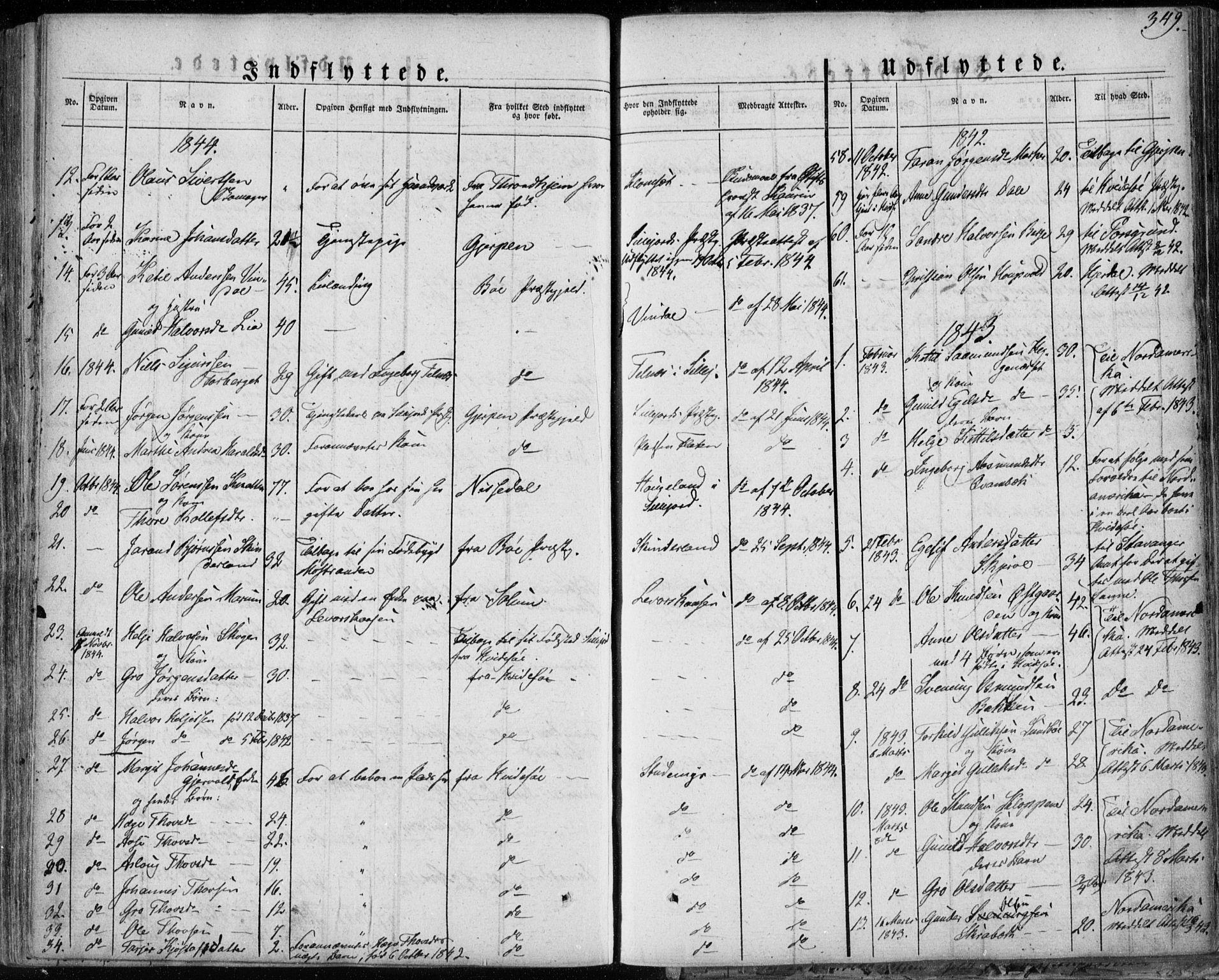 SAKO, Seljord kirkebøker, F/Fa/L0011: Ministerialbok nr. I 11, 1831-1849, s. 349