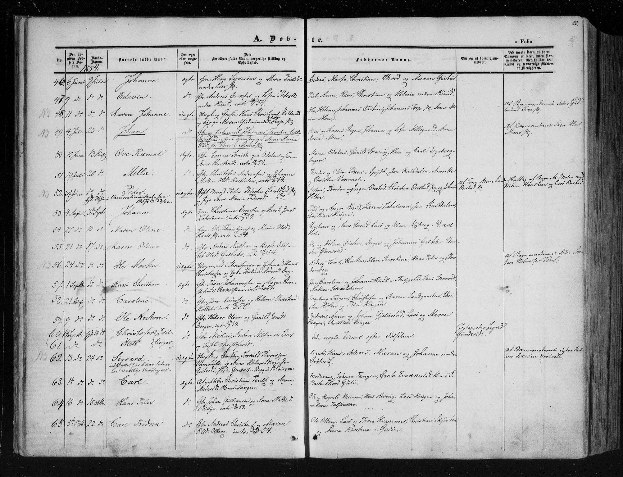 SAO, Askim prestekontor Kirkebøker, F/Fa/L0005: Ministerialbok nr. 5, 1847-1879, s. 23