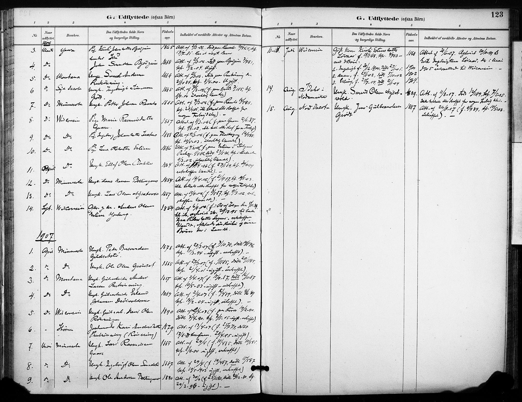 SAT, Ministerialprotokoller, klokkerbøker og fødselsregistre - Sør-Trøndelag, 685/L0973: Ministerialbok nr. 685A10, 1891-1907, s. 123