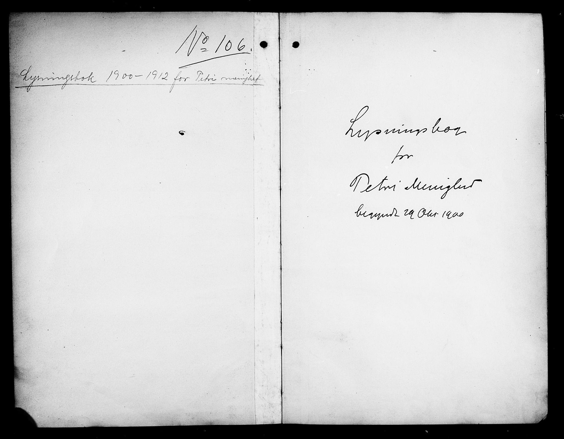 SAO, Petrus prestekontor Kirkebøker, H/Ha/L0003: Lysningsprotokoll nr. 3, 1900-1912
