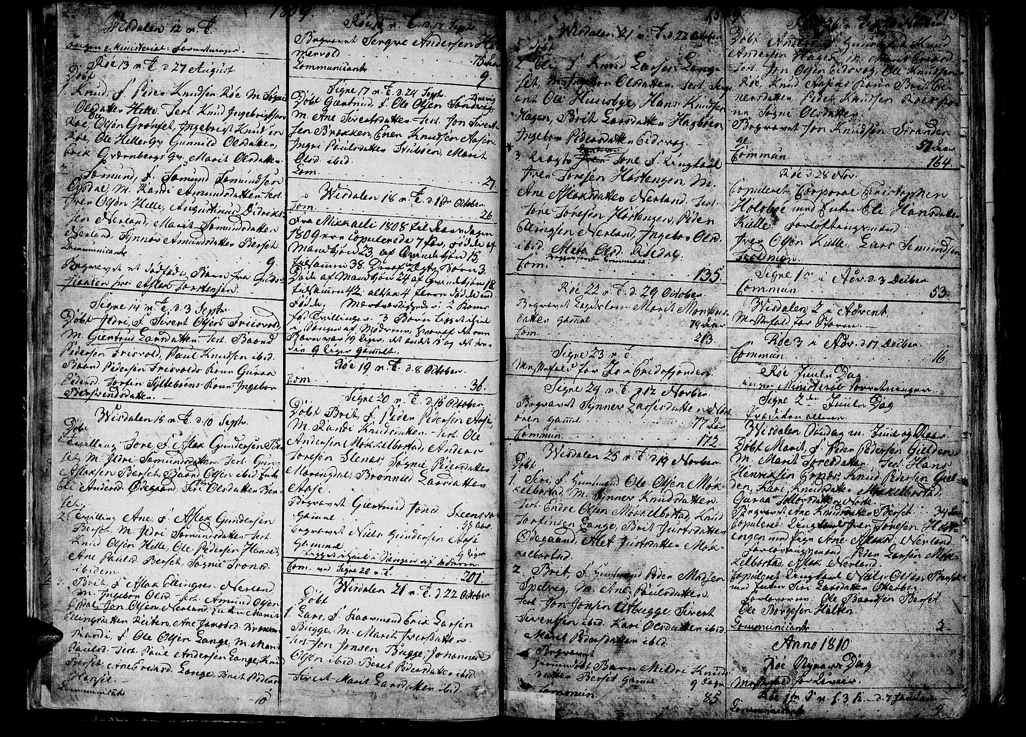 SAT, Ministerialprotokoller, klokkerbøker og fødselsregistre - Møre og Romsdal, 551/L0622: Ministerialbok nr. 551A02, 1804-1845, s. 42-43