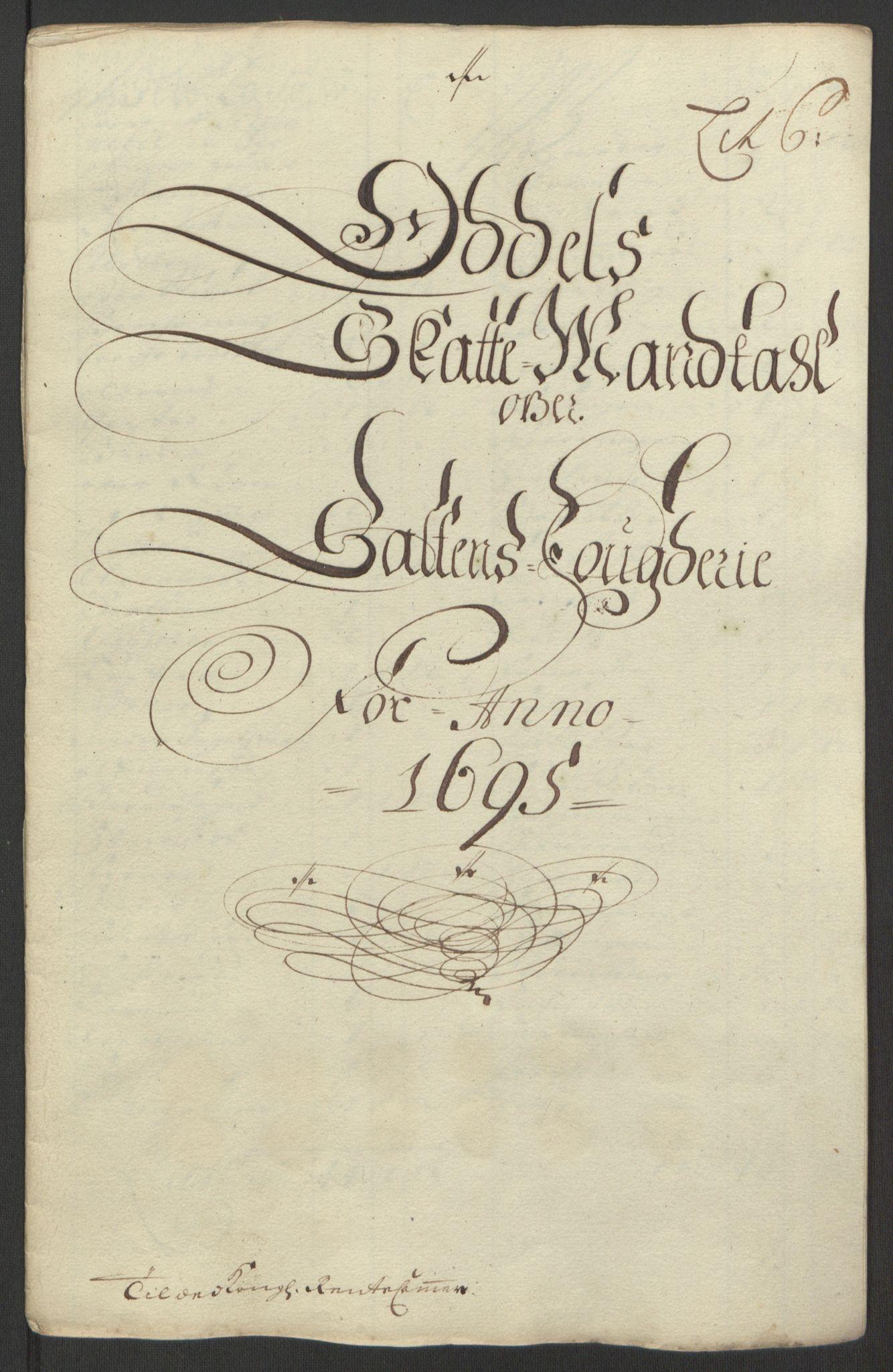 RA, Rentekammeret inntil 1814, Reviderte regnskaper, Fogderegnskap, R66/L4578: Fogderegnskap Salten, 1694-1696, s. 148