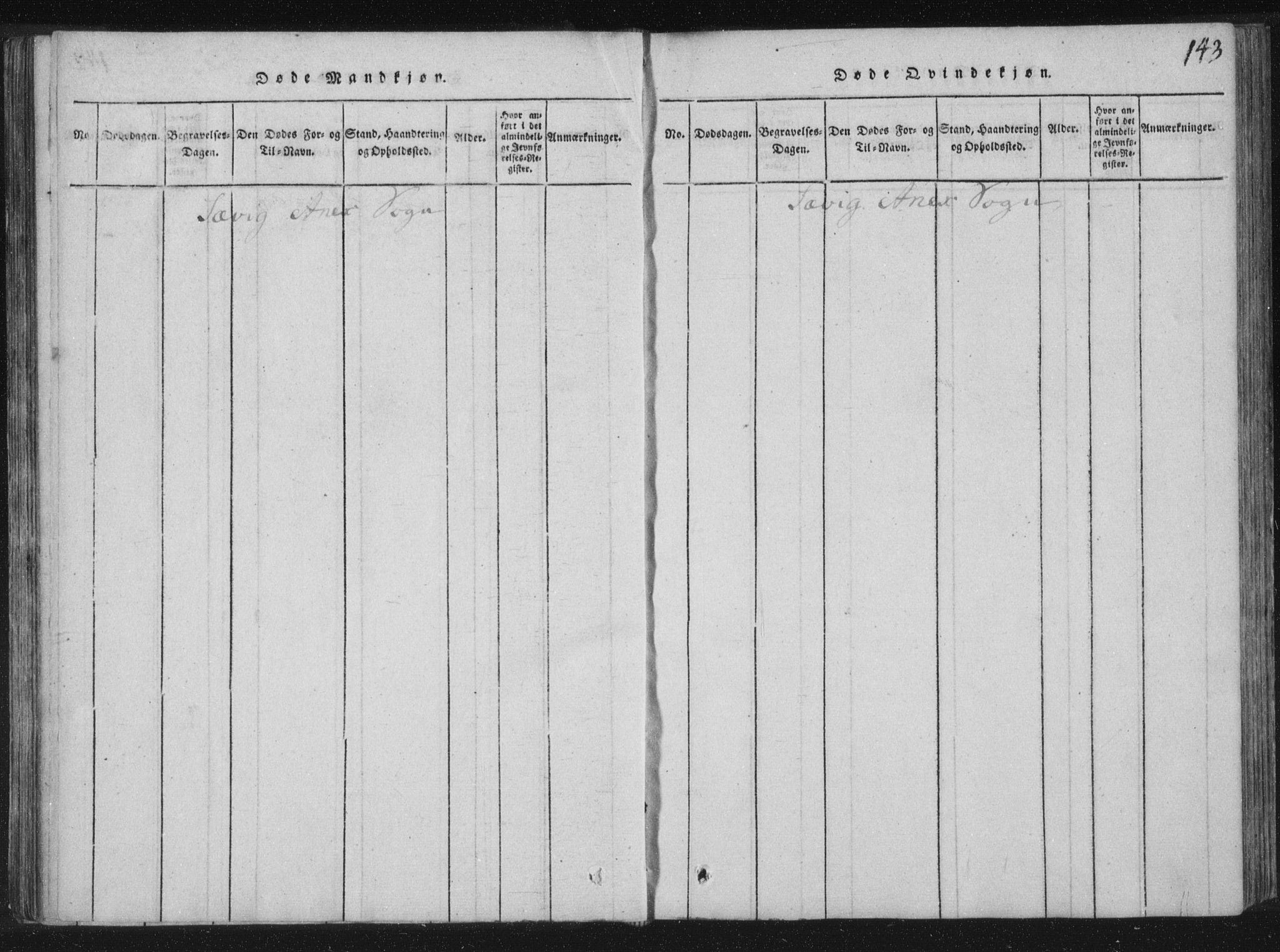 SAT, Ministerialprotokoller, klokkerbøker og fødselsregistre - Nord-Trøndelag, 773/L0609: Ministerialbok nr. 773A03 /4, 1815-1818, s. 143