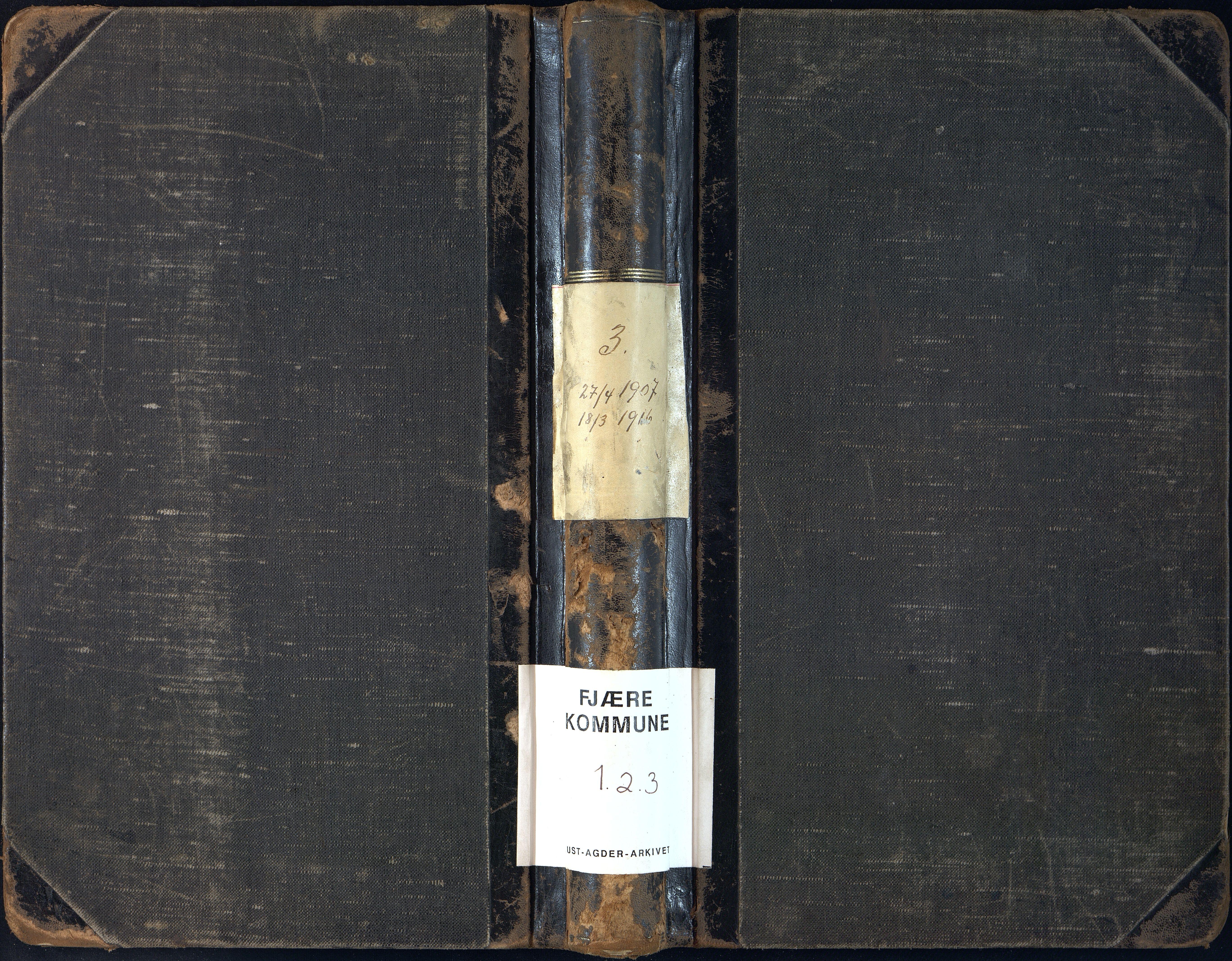 AAKS, Fjære kommune, 01/01A/L0005: Møtebok, 1907-1916