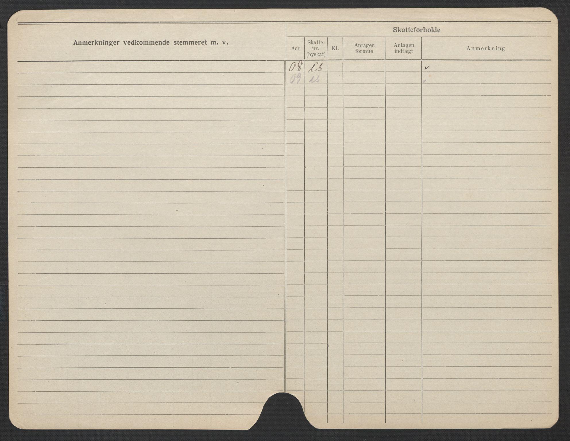 SAO, Oslo folkeregister, Registerkort, F/Fa/Fac/L0019: Kvinner, 1906-1914, s. 1174b
