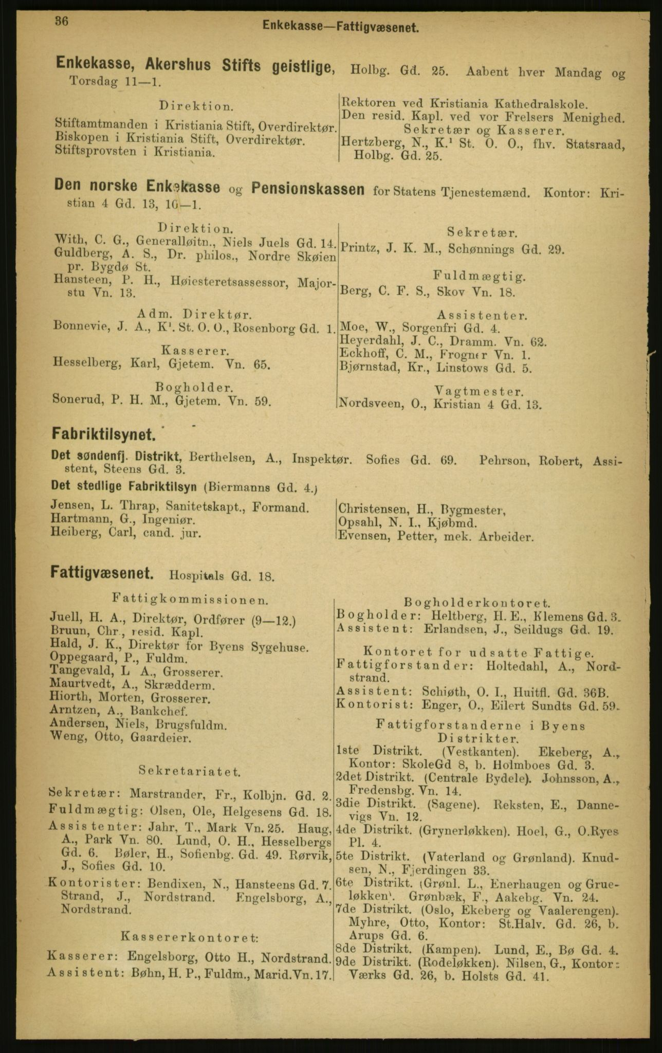 PUBL, Kristiania/Oslo adressebok, 1897, s. 36