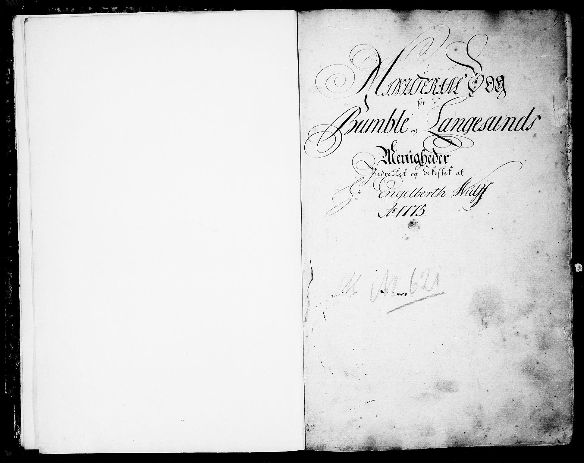 SAKO, Bamble kirkebøker, F/Fa/L0002: Ministerialbok nr. I 2, 1775-1814, s. 0-1