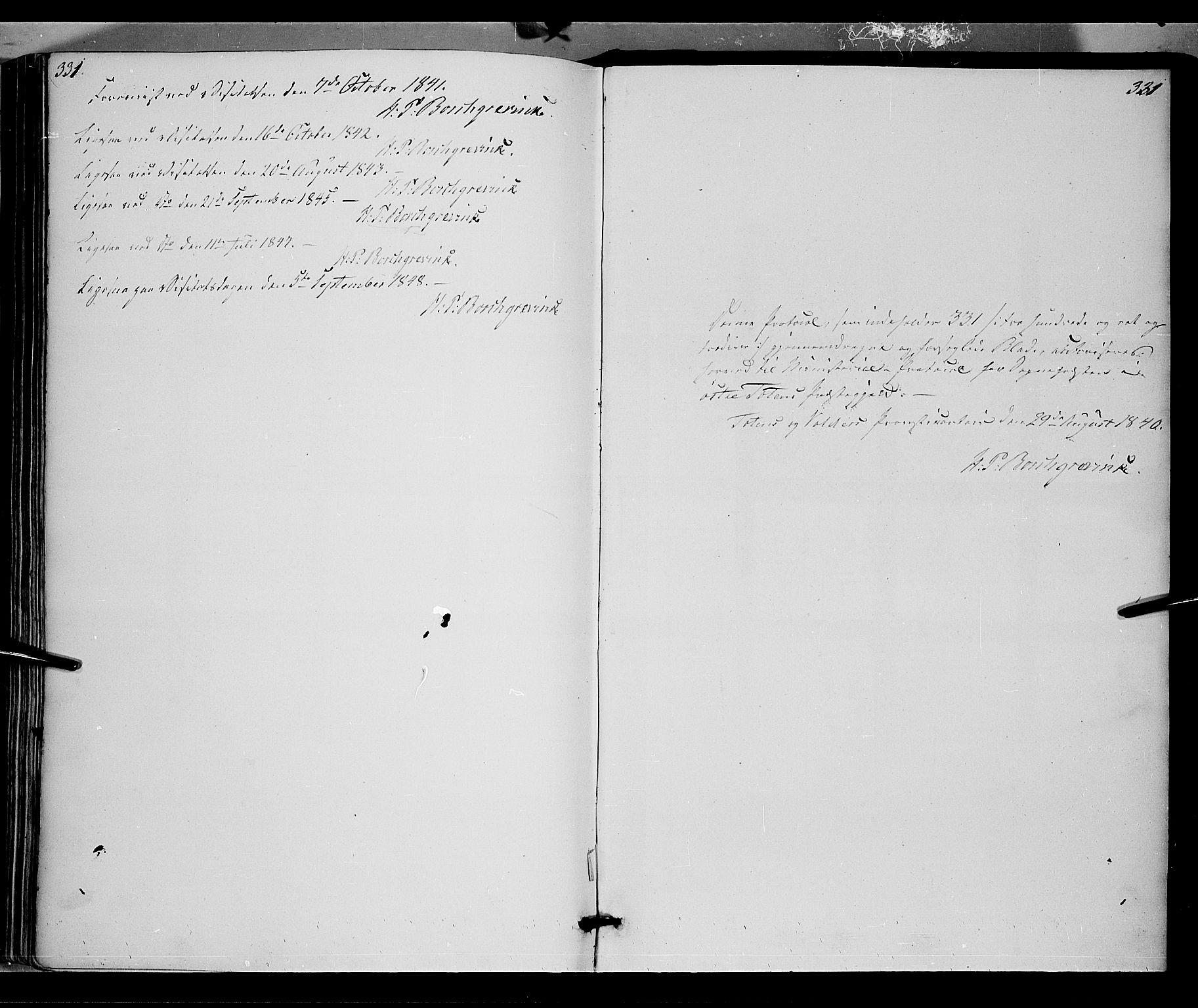 SAH, Østre Toten prestekontor, Ministerialbok nr. 2, 1840-1847, s. 321