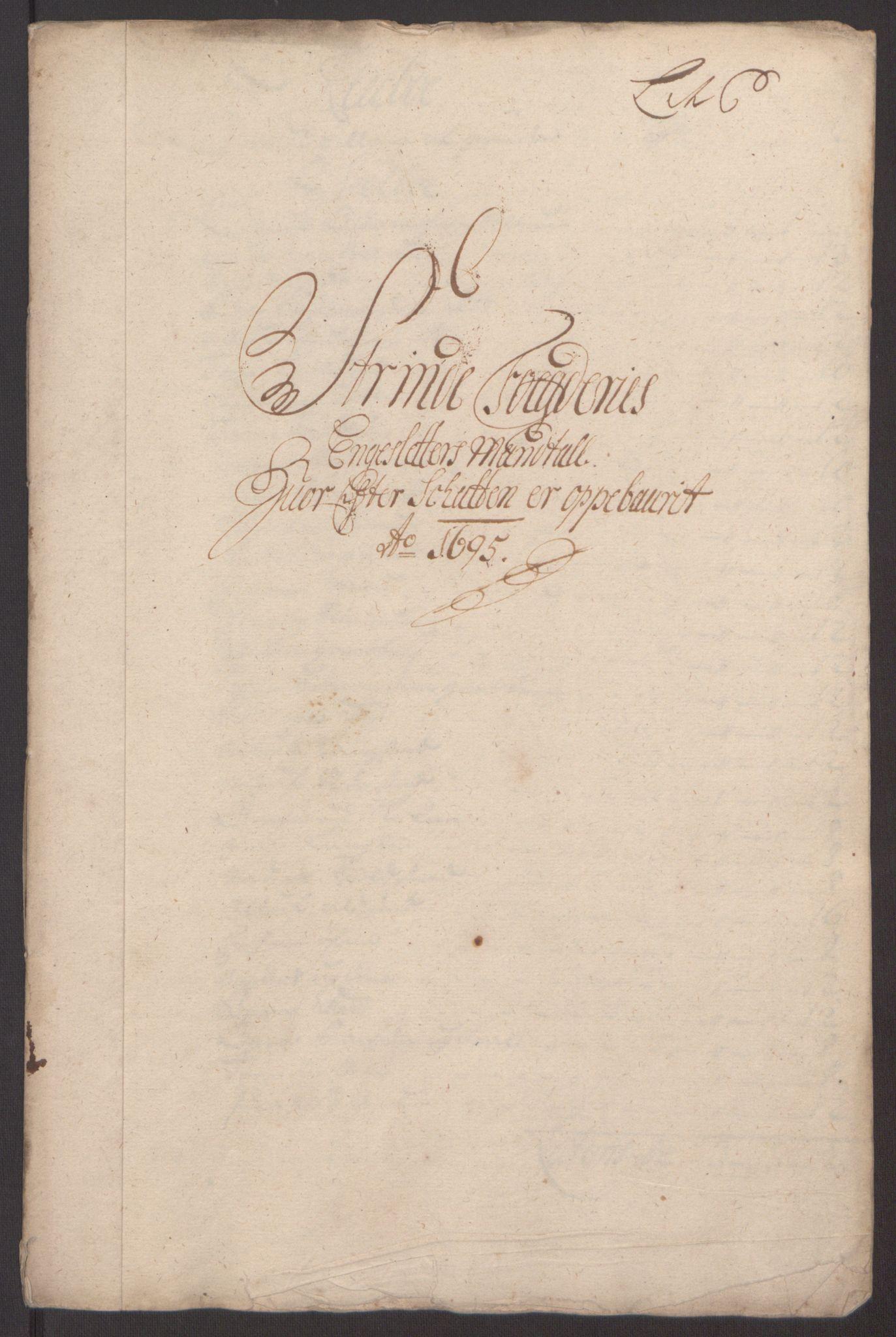 RA, Rentekammeret inntil 1814, Reviderte regnskaper, Fogderegnskap, R61/L4105: Fogderegnskap Strinda og Selbu, 1695, s. 29