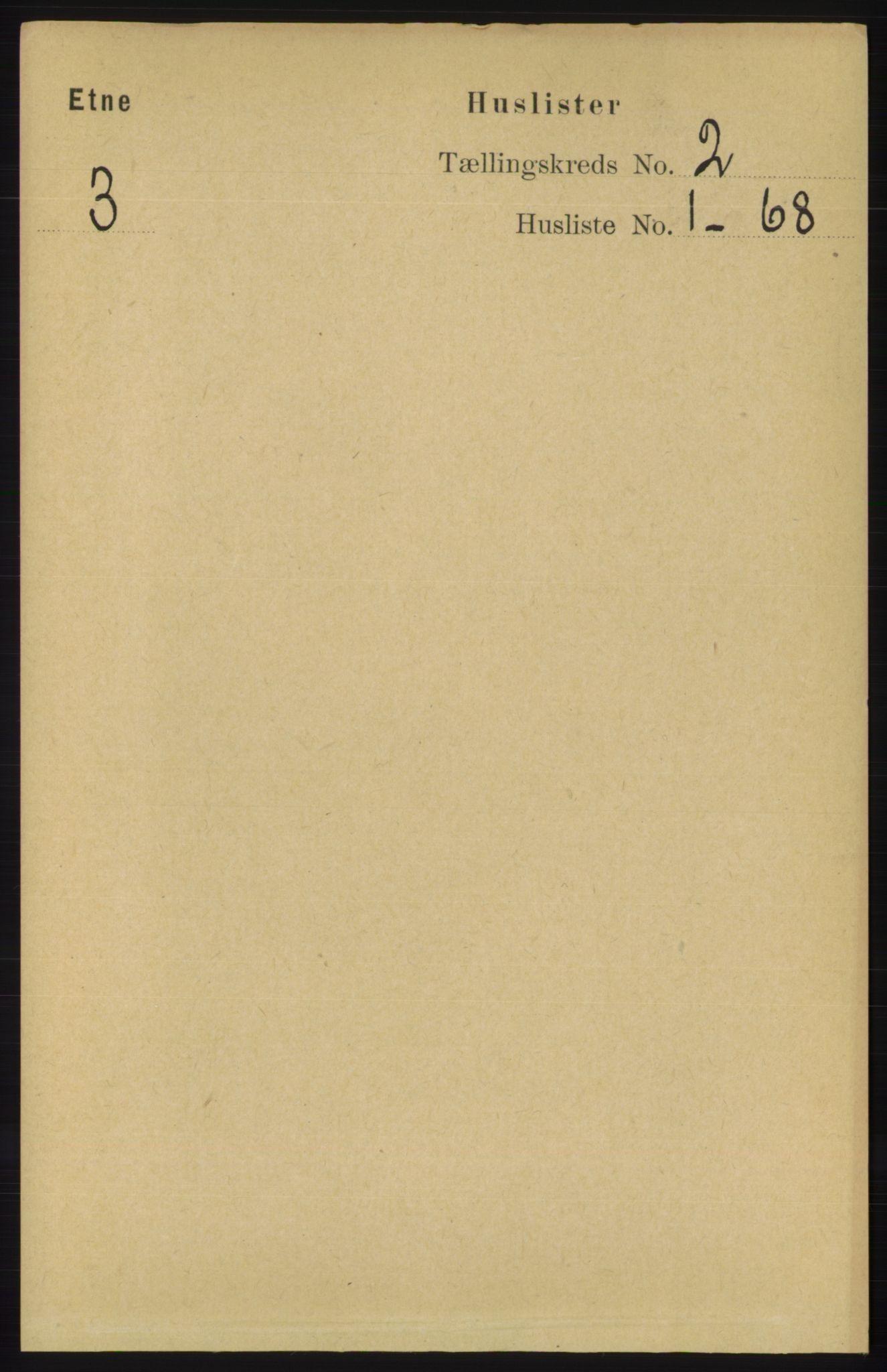 RA, Folketelling 1891 for 1211 Etne herred, 1891, s. 260