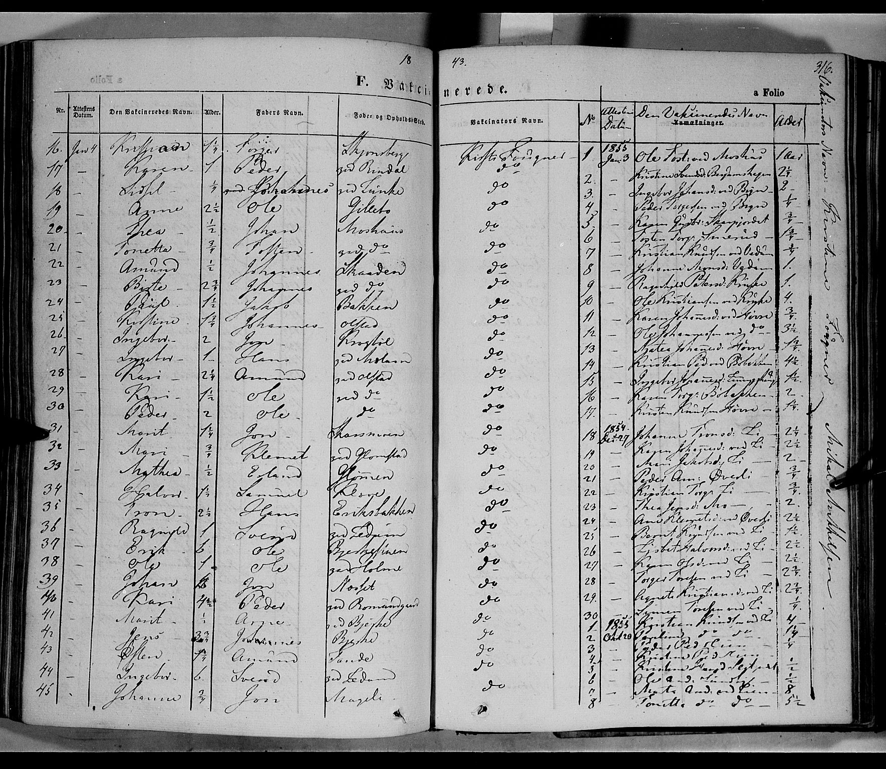 SAH, Øyer prestekontor, Ministerialbok nr. 5, 1842-1857, s. 316