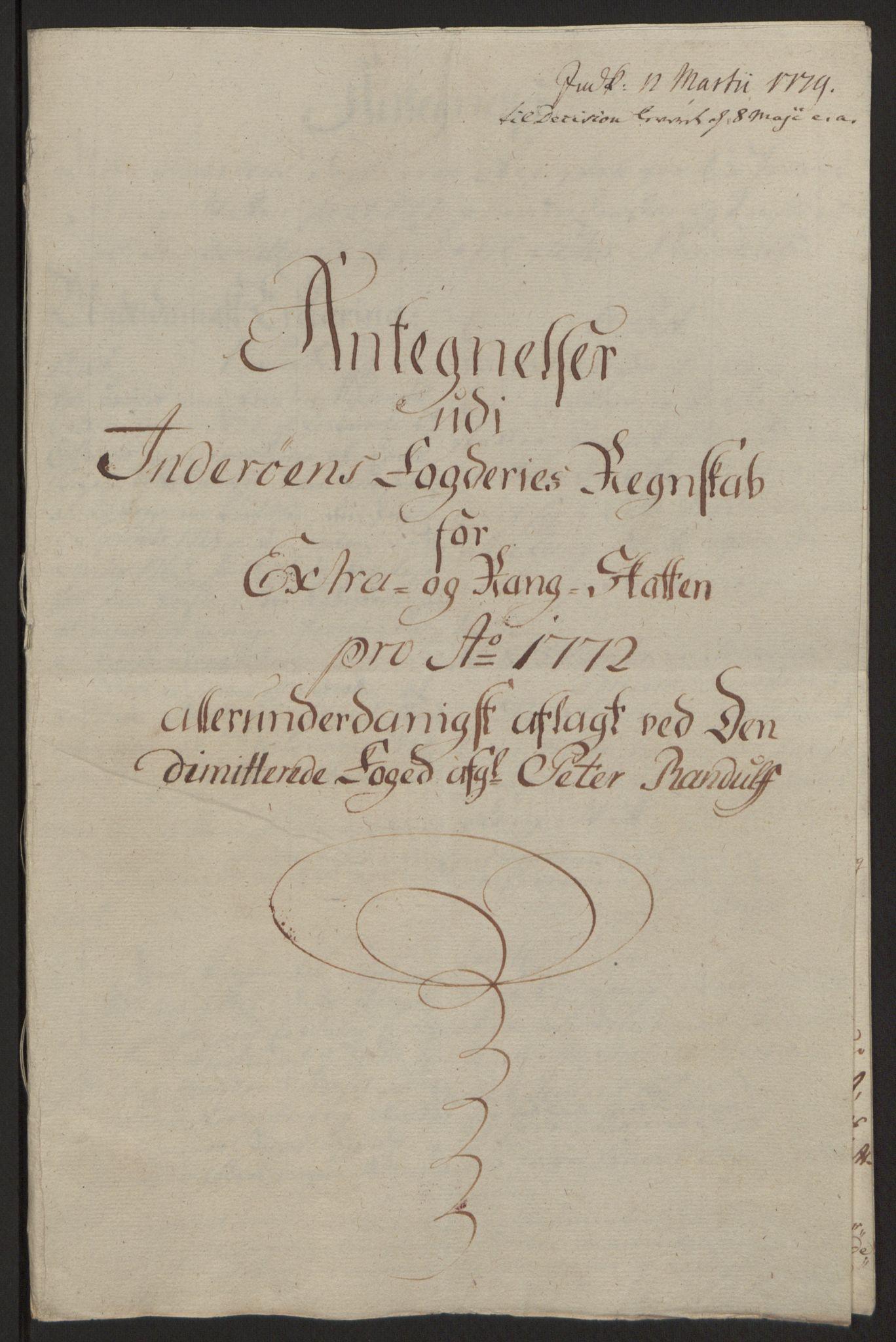 RA, Rentekammeret inntil 1814, Reviderte regnskaper, Fogderegnskap, R63/L4420: Ekstraskatten Inderøy, 1762-1772, s. 643