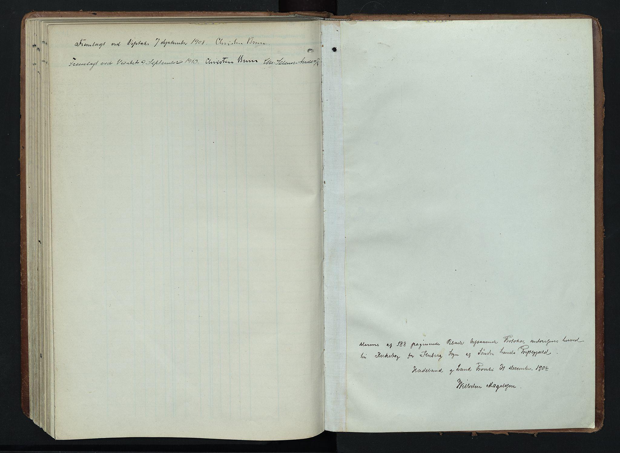 SAH, Søndre Land prestekontor, K/L0005: Ministerialbok nr. 5, 1905-1914