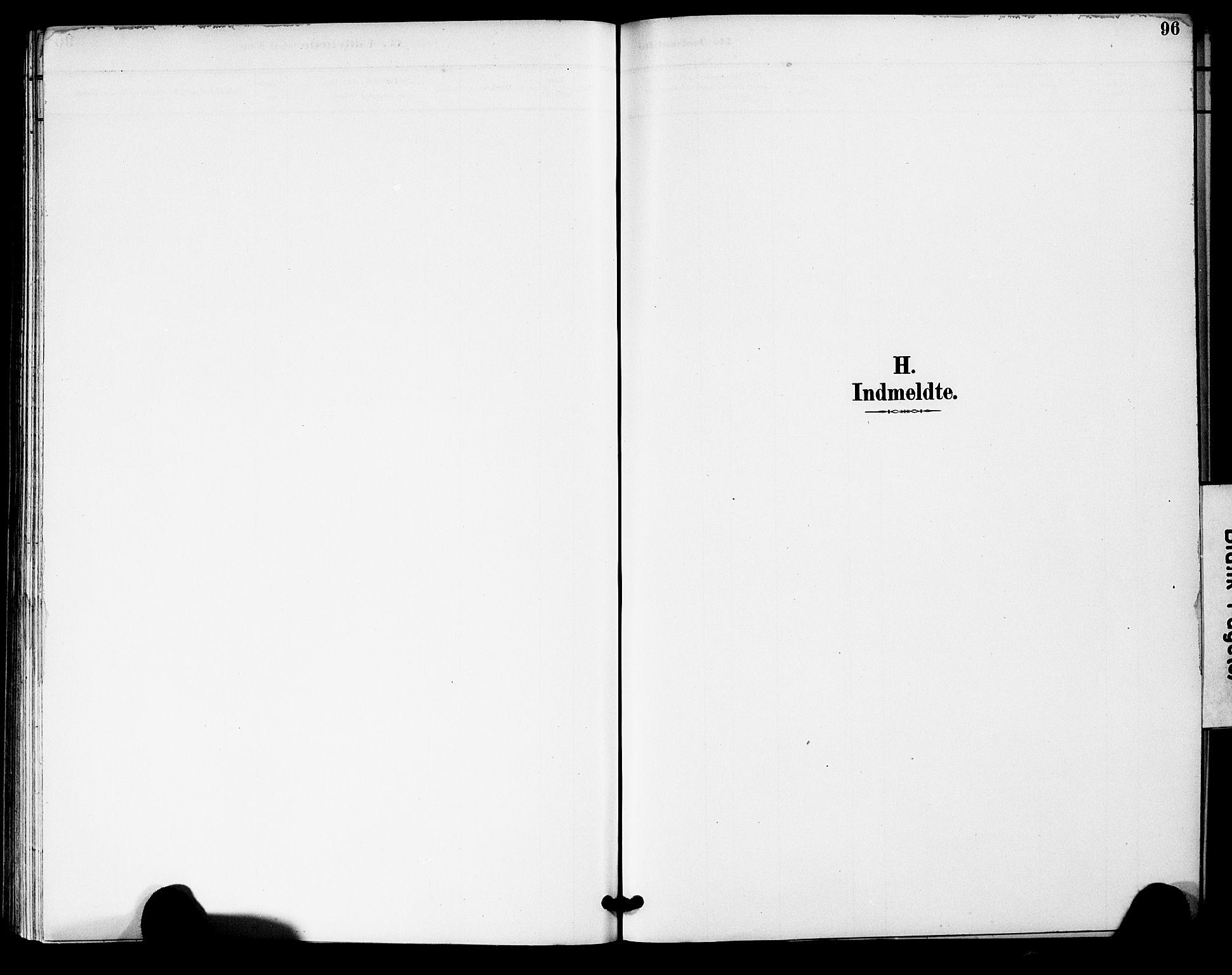 SAK, Bygland sokneprestkontor, F/Fa/Fac/L0001: Ministerialbok nr. A 1, 1885-1909, s. 96