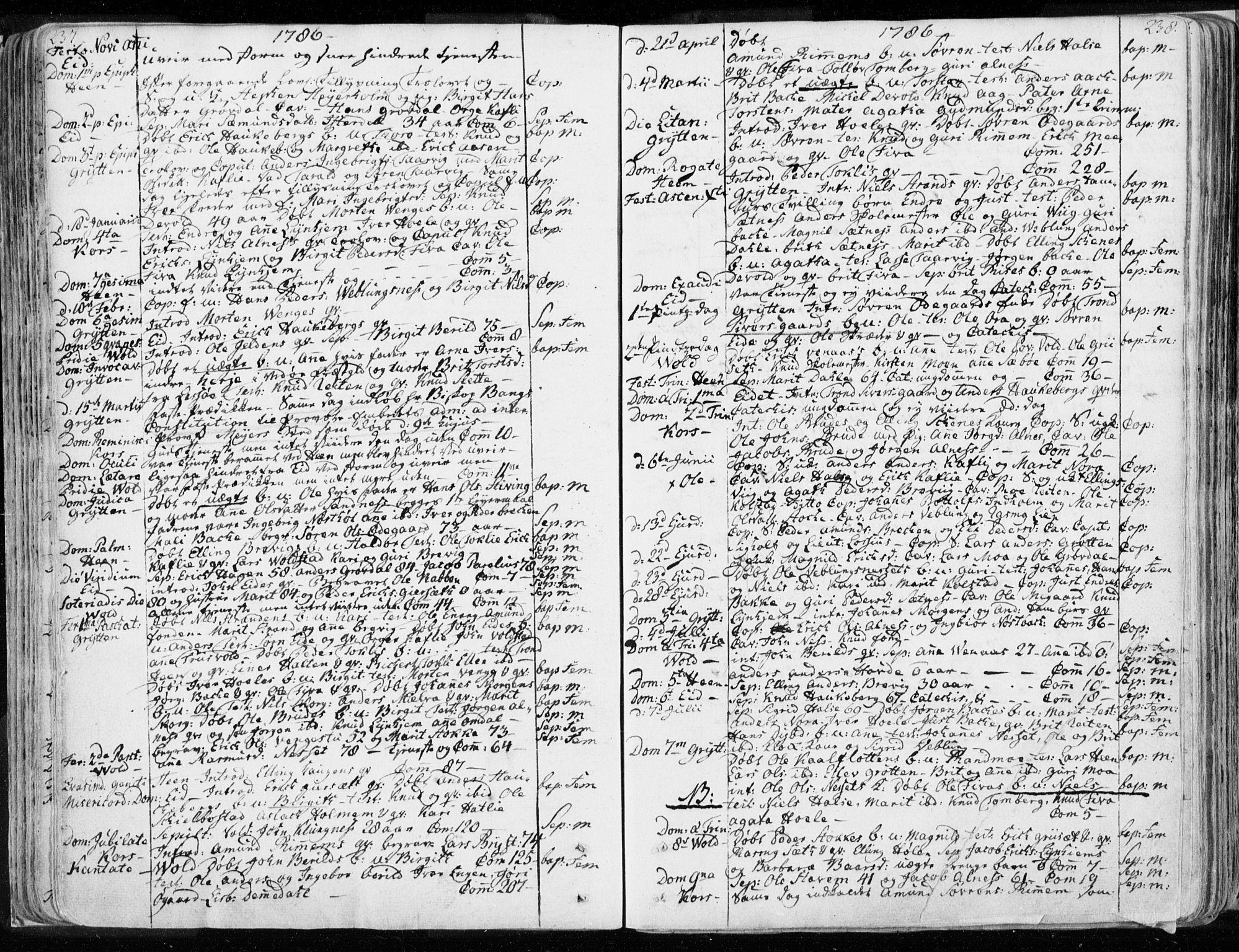 SAT, Ministerialprotokoller, klokkerbøker og fødselsregistre - Møre og Romsdal, 544/L0569: Ministerialbok nr. 544A02, 1764-1806, s. 237-238