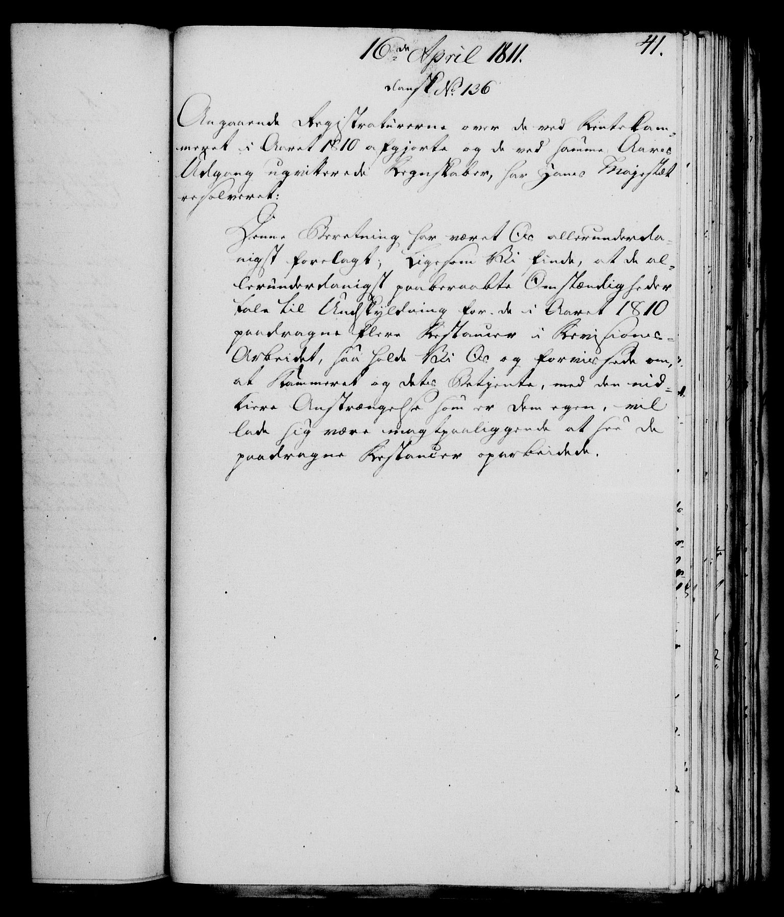 RA, Rentekammeret, Kammerkanselliet, G/Gf/Gfa/L0093: Norsk relasjons- og resolusjonsprotokoll (merket RK 52.93), 1811, s. 173
