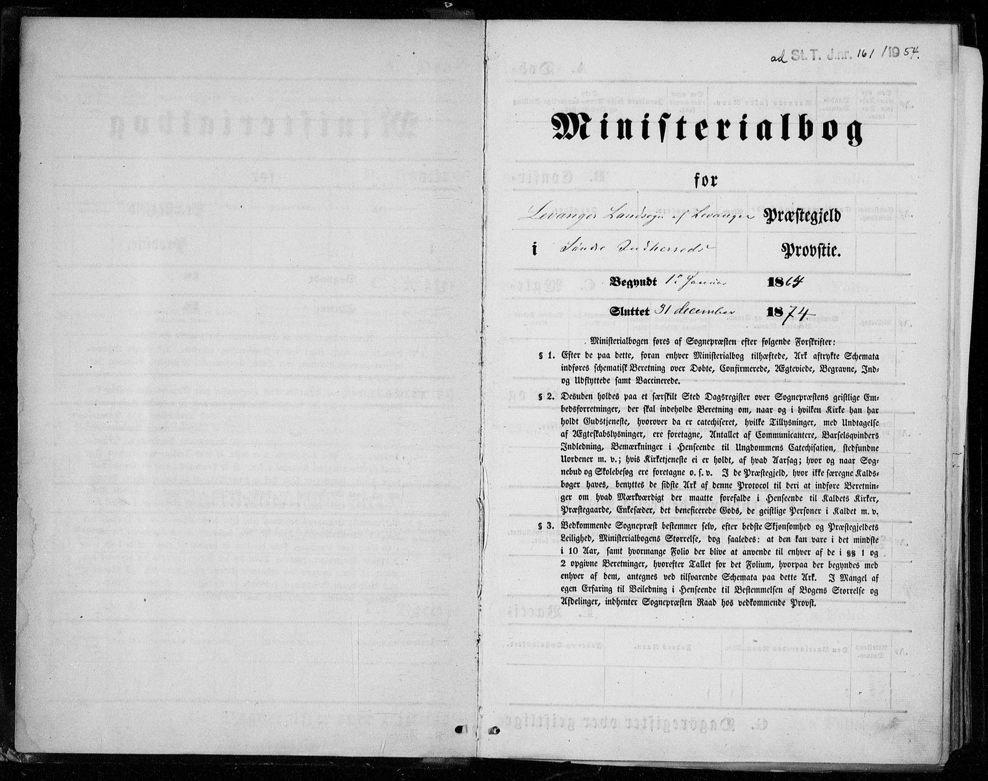 SAT, Ministerialprotokoller, klokkerbøker og fødselsregistre - Nord-Trøndelag, 721/L0206: Ministerialbok nr. 721A01, 1864-1874