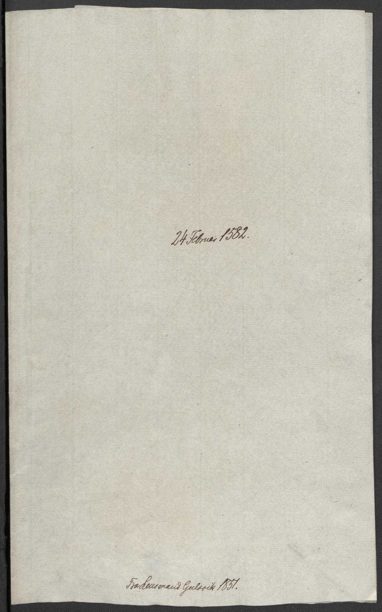 RA, Riksarkivets diplomsamling, F02/L0084: Dokumenter, 1582, s. 11