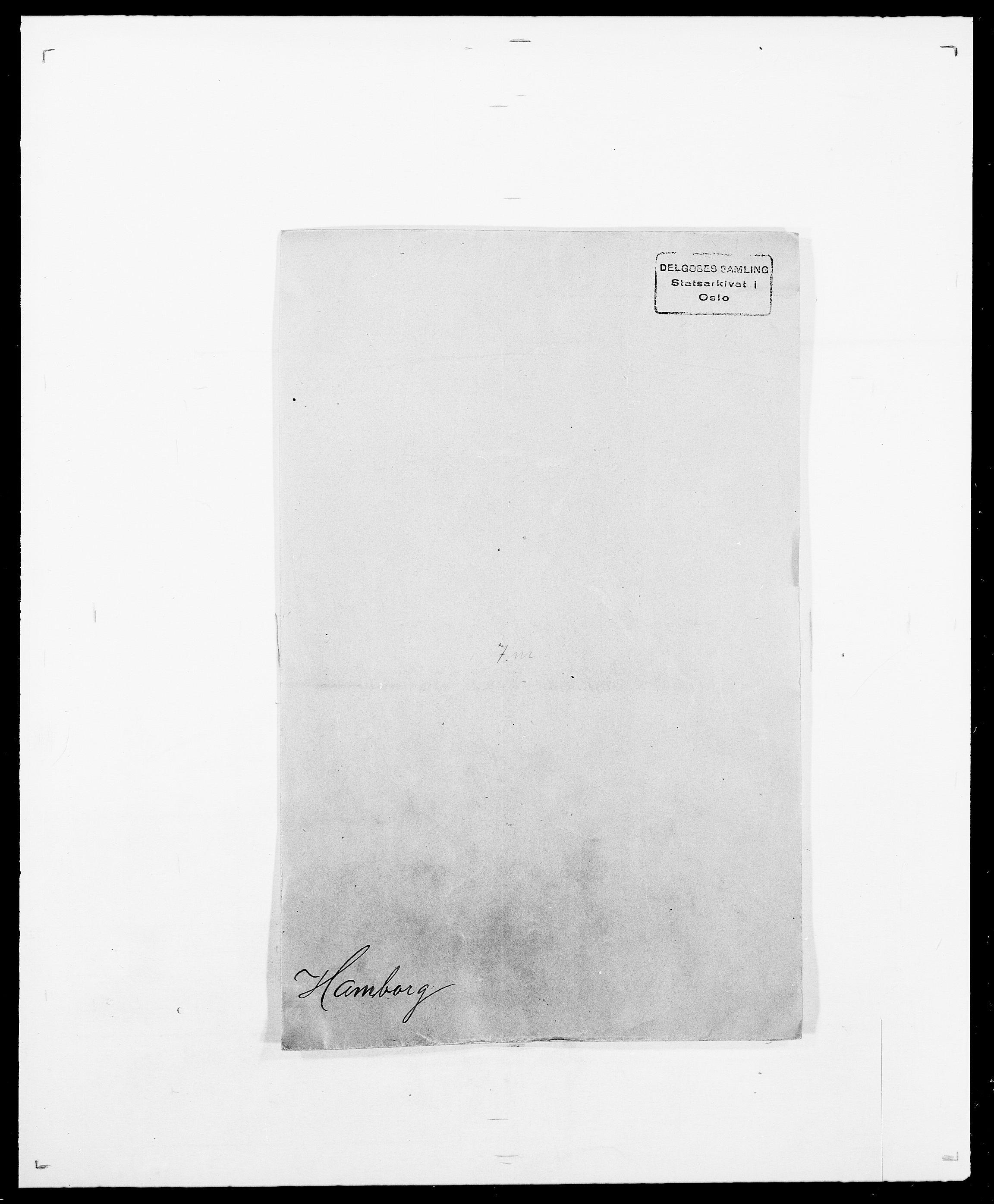 SAO, Delgobe, Charles Antoine - samling, D/Da/L0016: Hamborg - Hektoen, s. 1