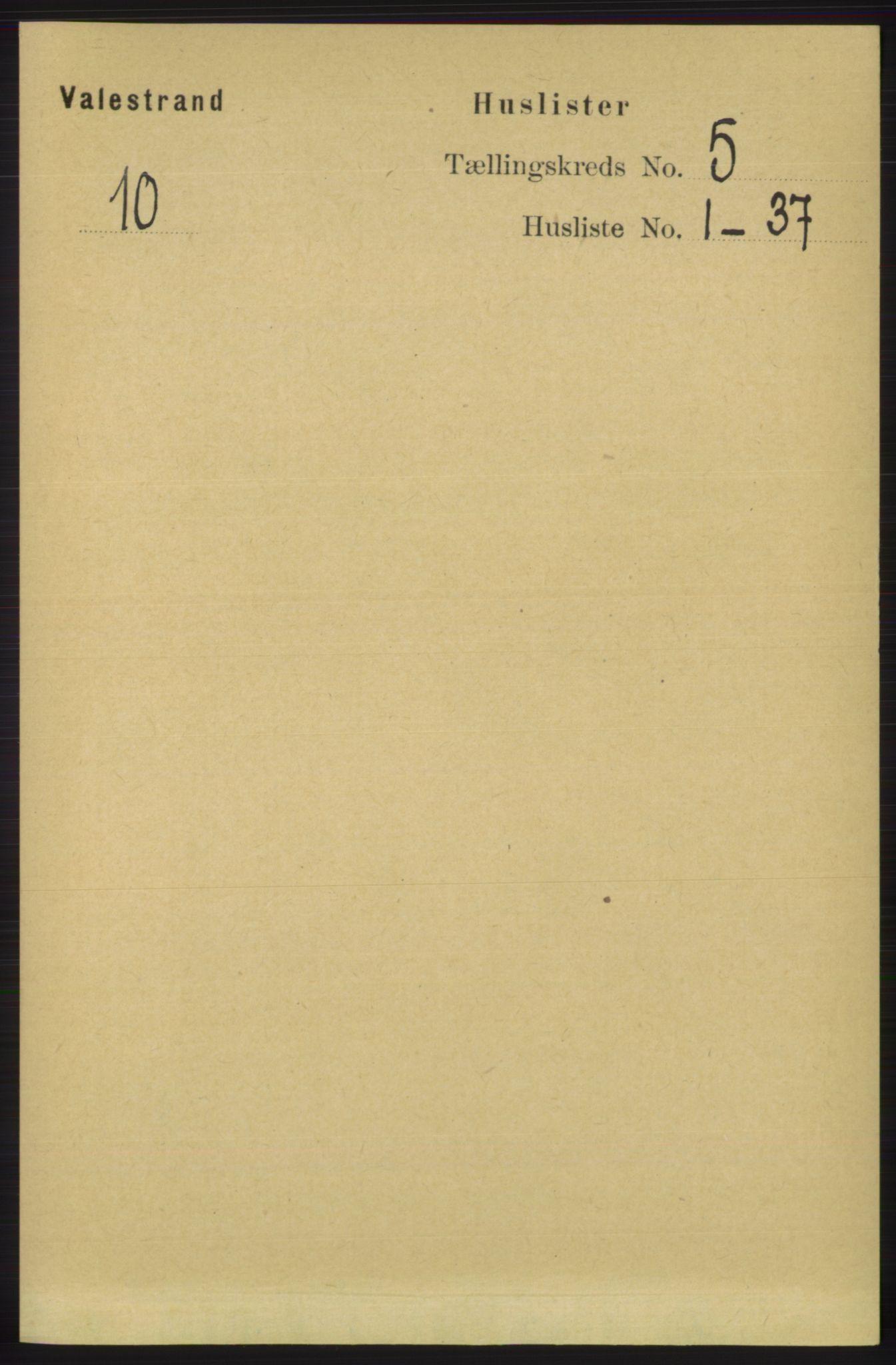 RA, Folketelling 1891 for 1217 Valestrand herred, 1891, s. 1088