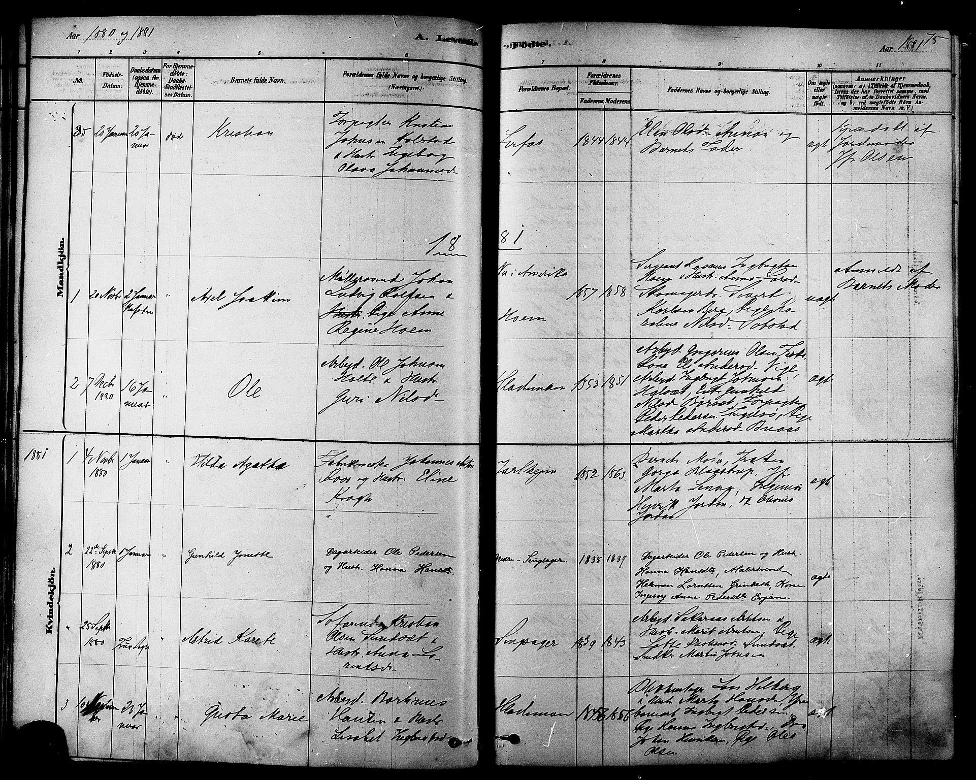 SAT, Ministerialprotokoller, klokkerbøker og fødselsregistre - Sør-Trøndelag, 606/L0294: Ministerialbok nr. 606A09, 1878-1886, s. 75
