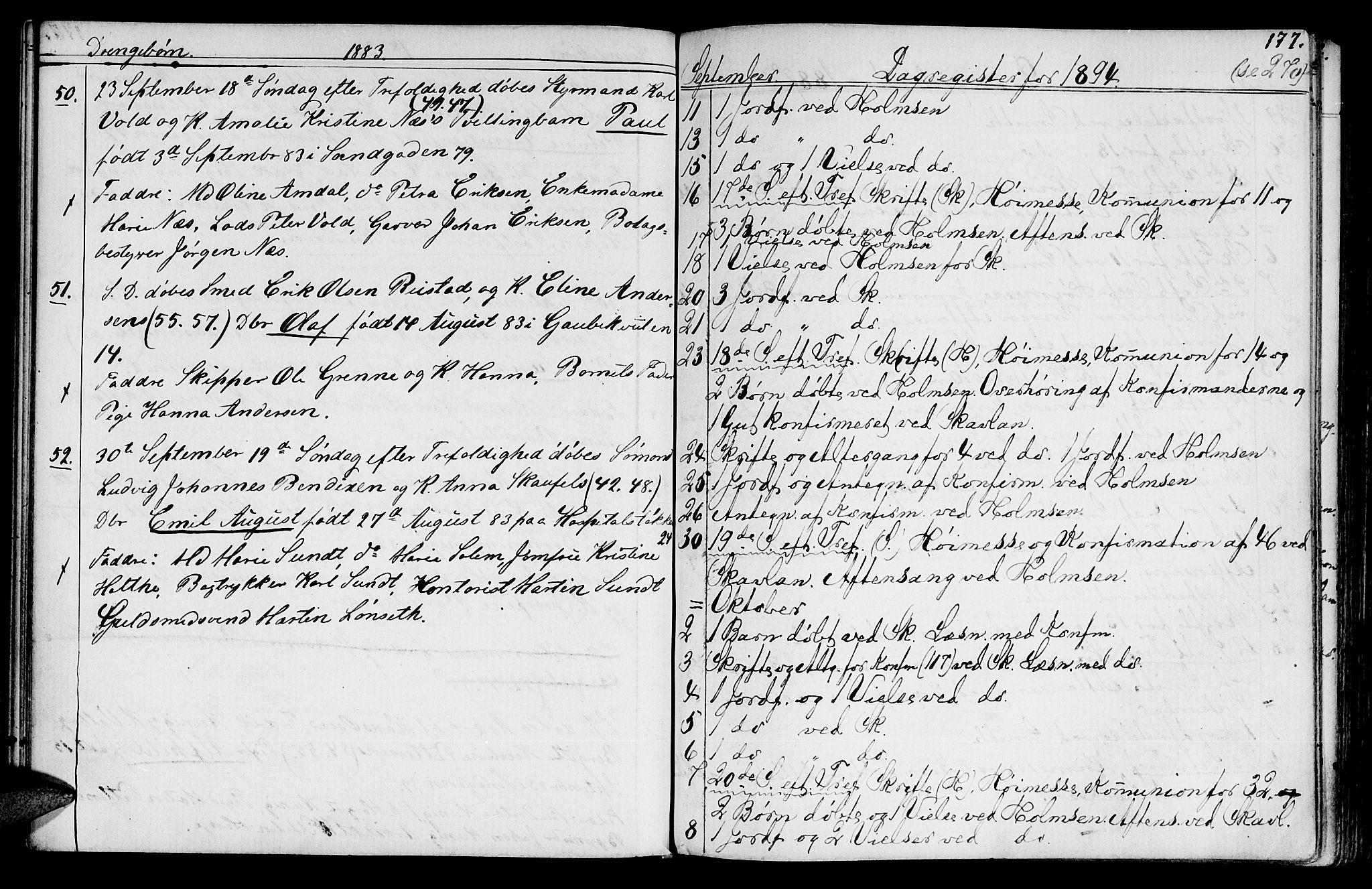 SAT, Ministerialprotokoller, klokkerbøker og fødselsregistre - Sør-Trøndelag, 602/L0142: Klokkerbok nr. 602C10, 1872-1894, s. 177