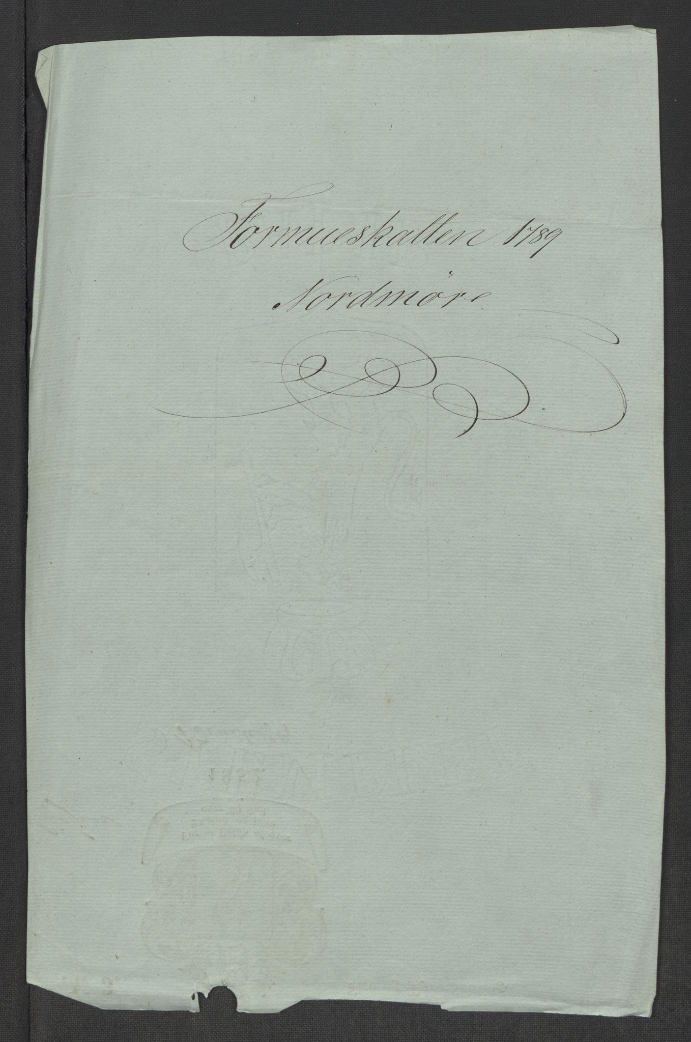 RA, Rentekammeret inntil 1814, Reviderte regnskaper, Mindre regnskaper, Rf/Rfe/L0031: Nordmøre fogderi, Numedal og Sandsvær fogderi, 1789, s. 3