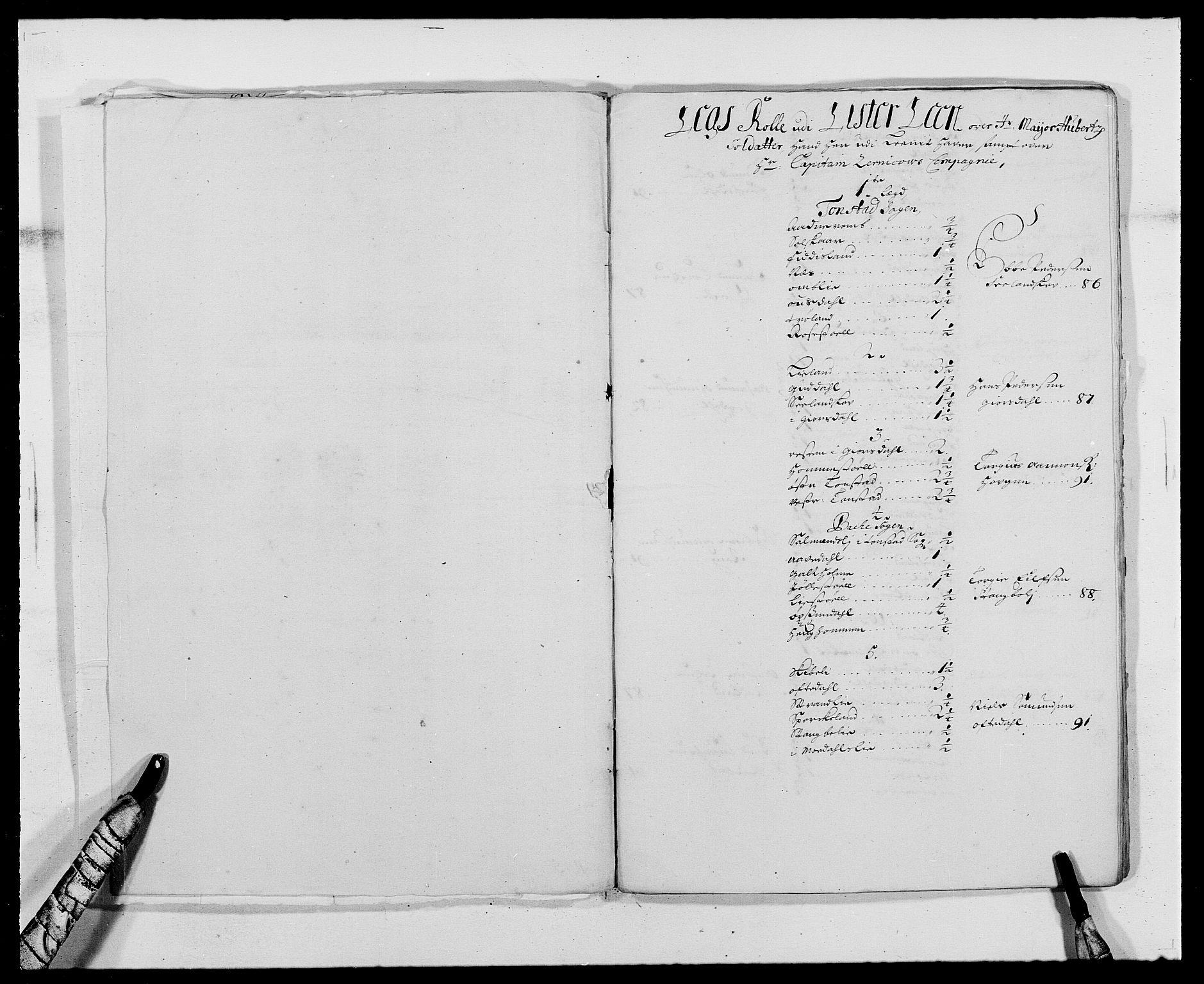 RA, Rentekammeret inntil 1814, Reviderte regnskaper, Fogderegnskap, R41/L2536: Fogderegnskap Lista, 1690-1693, s. 379