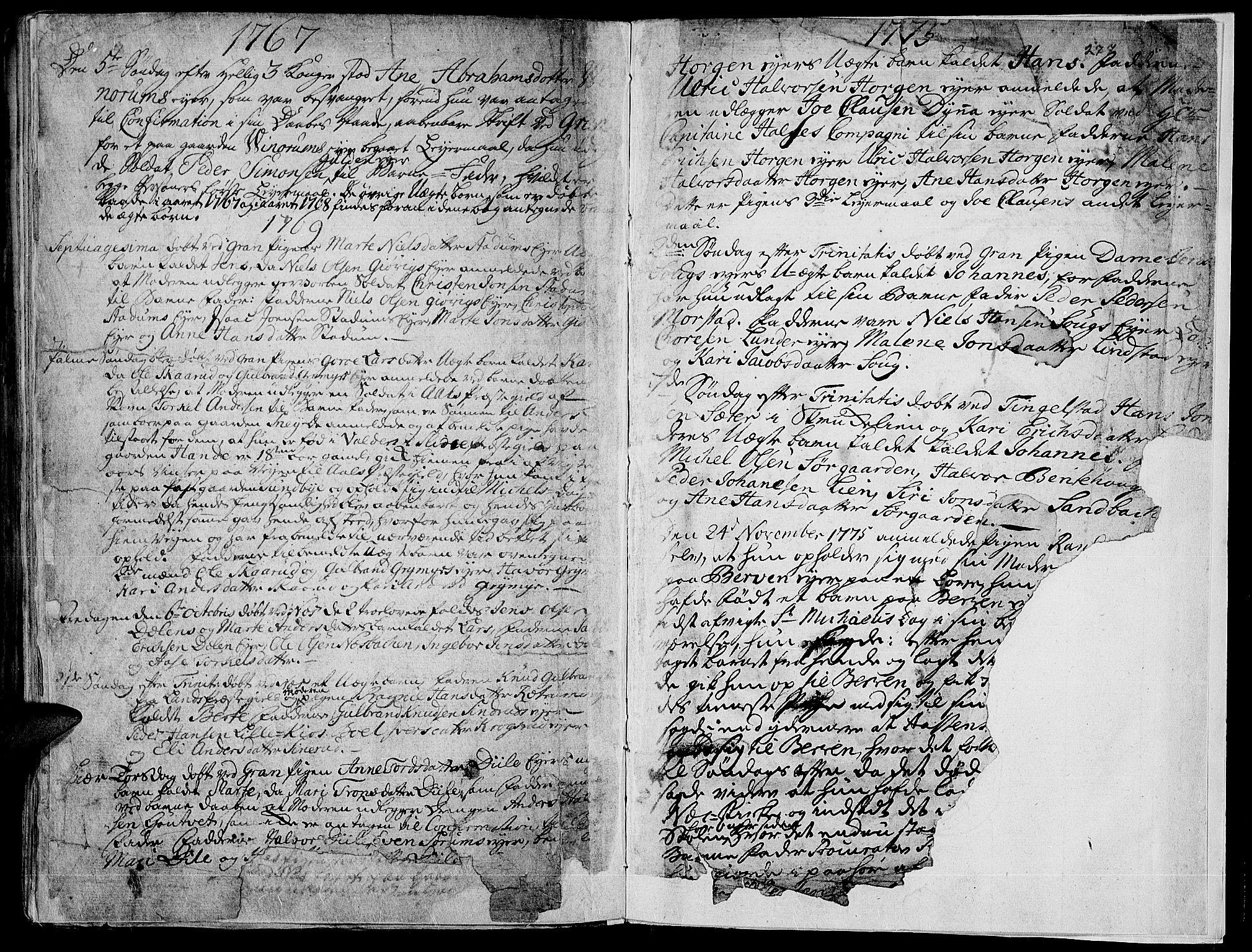 SAH, Gran prestekontor, Ministerialbok nr. 4, 1759-1775, s. 277