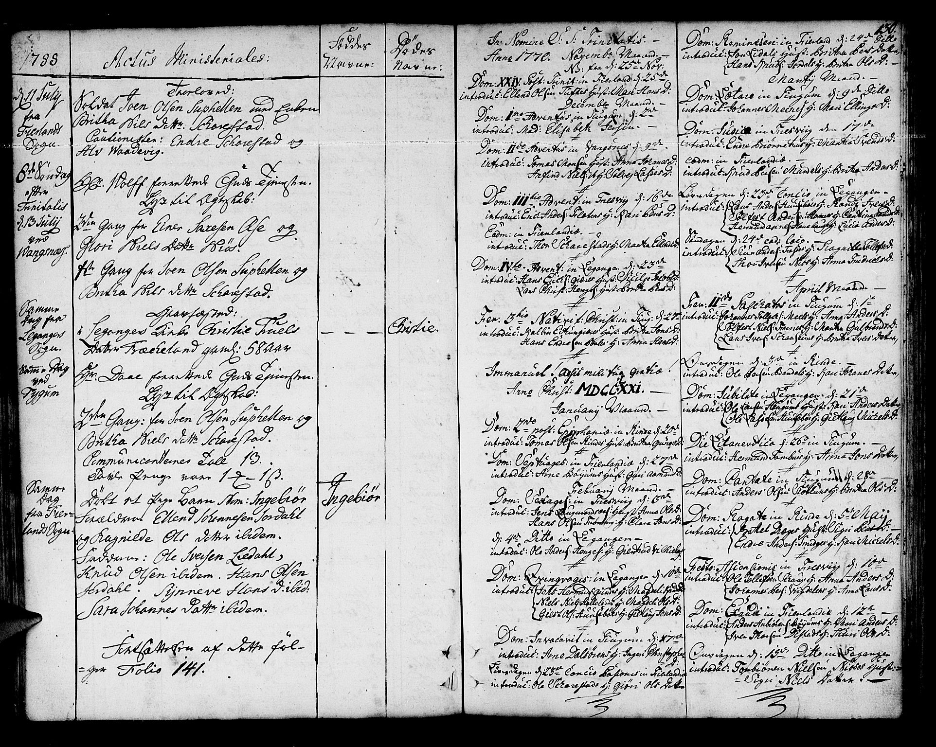 SAB, Leikanger Sokneprestembete, Ministerialbok nr. A 4, 1770-1791, s. 130