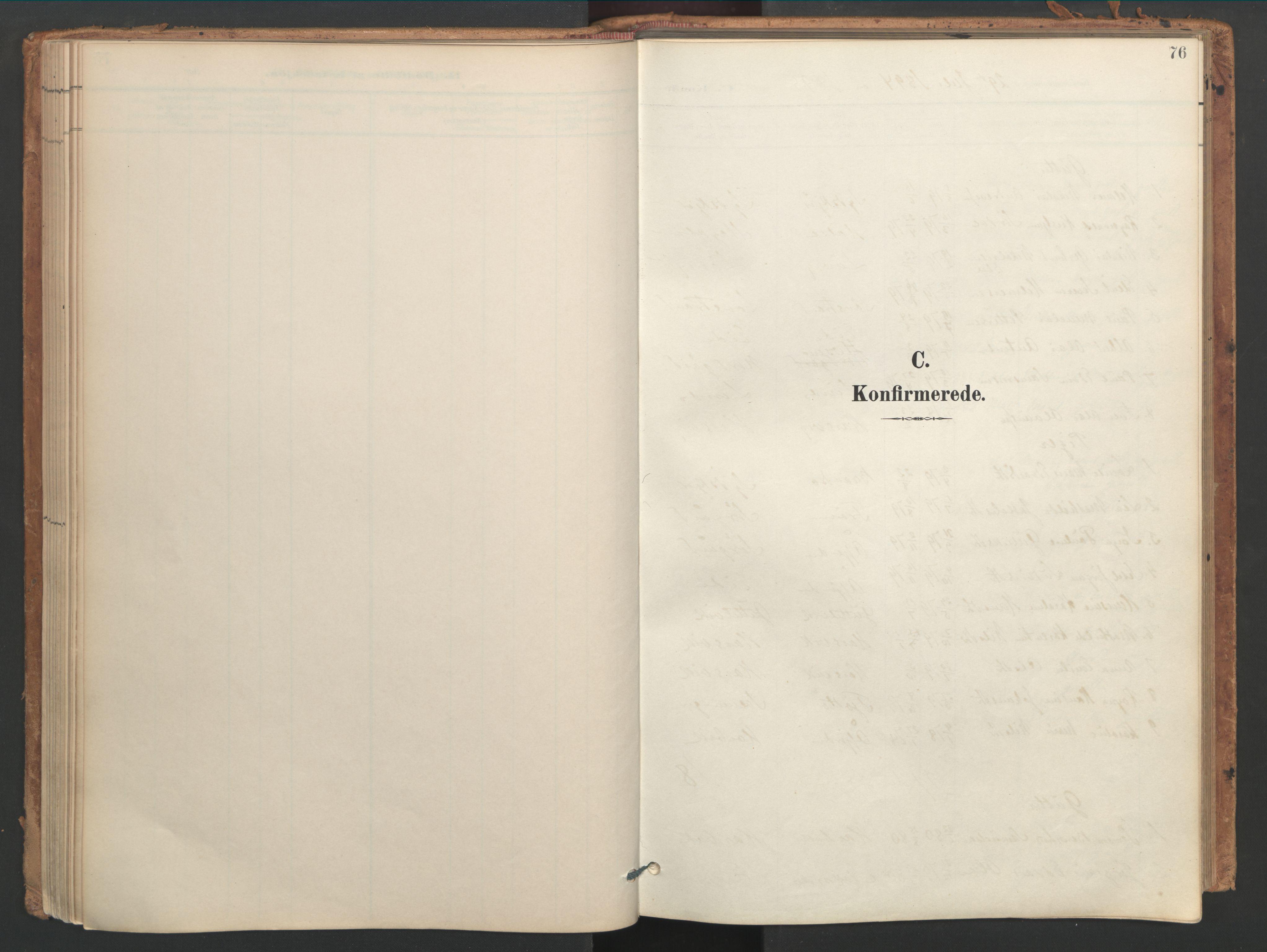 SAT, Ministerialprotokoller, klokkerbøker og fødselsregistre - Sør-Trøndelag, 656/L0693: Ministerialbok nr. 656A02, 1894-1913, s. 76