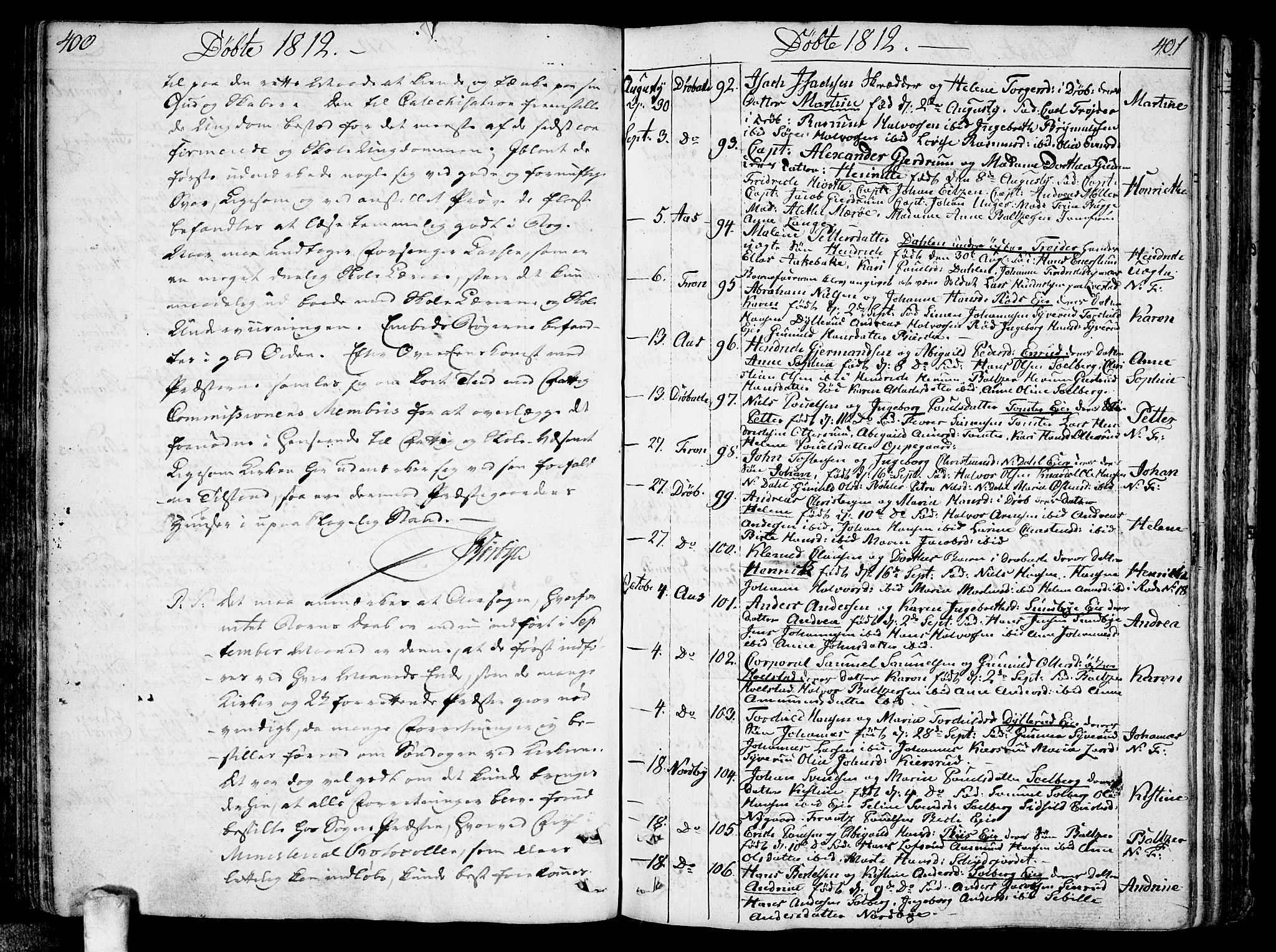 SAO, Ås prestekontor Kirkebøker, F/Fa/L0002: Ministerialbok nr. I 2, 1778-1813, s. 400-401