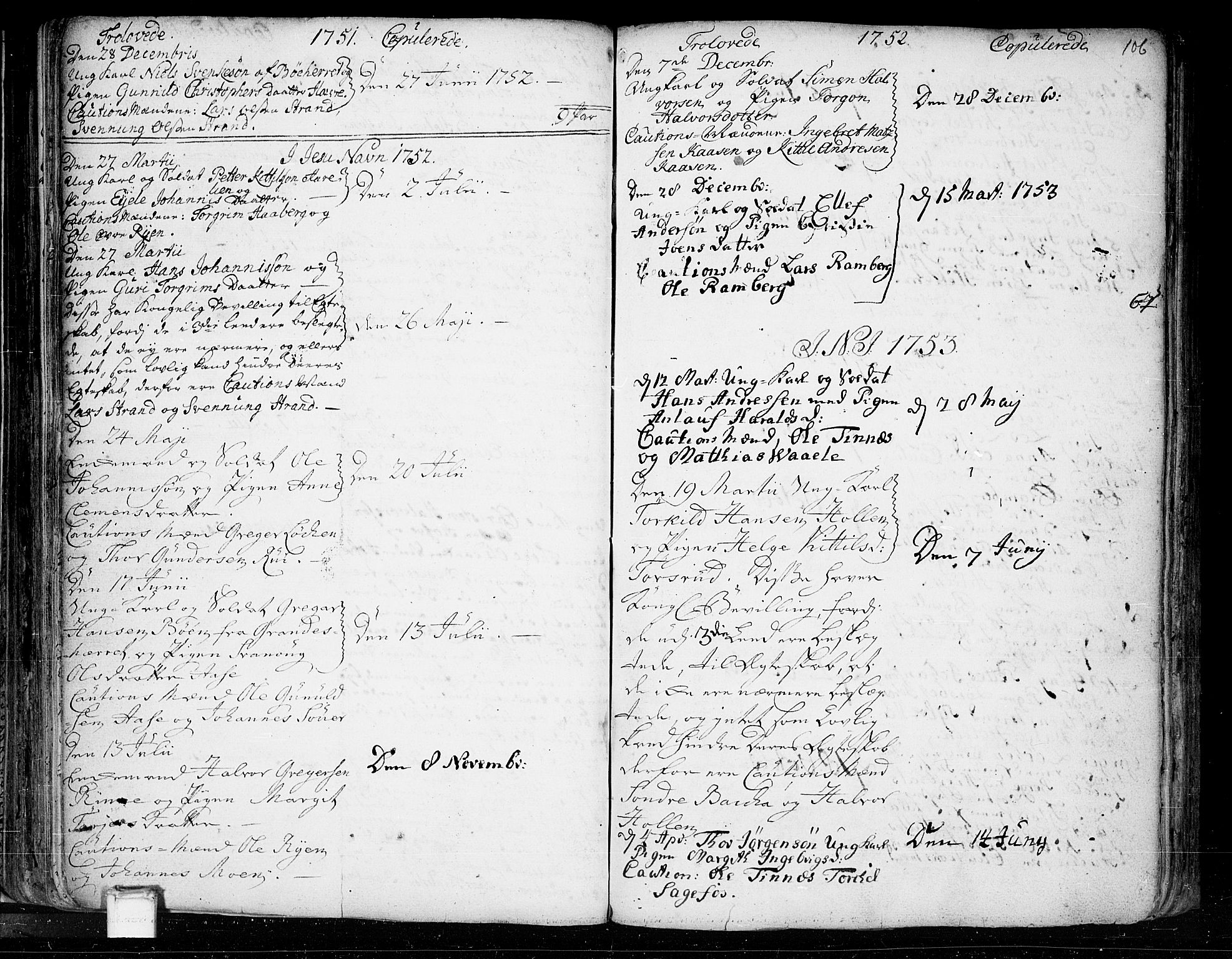 SAKO, Heddal kirkebøker, F/Fa/L0003: Ministerialbok nr. I 3, 1723-1783, s. 106