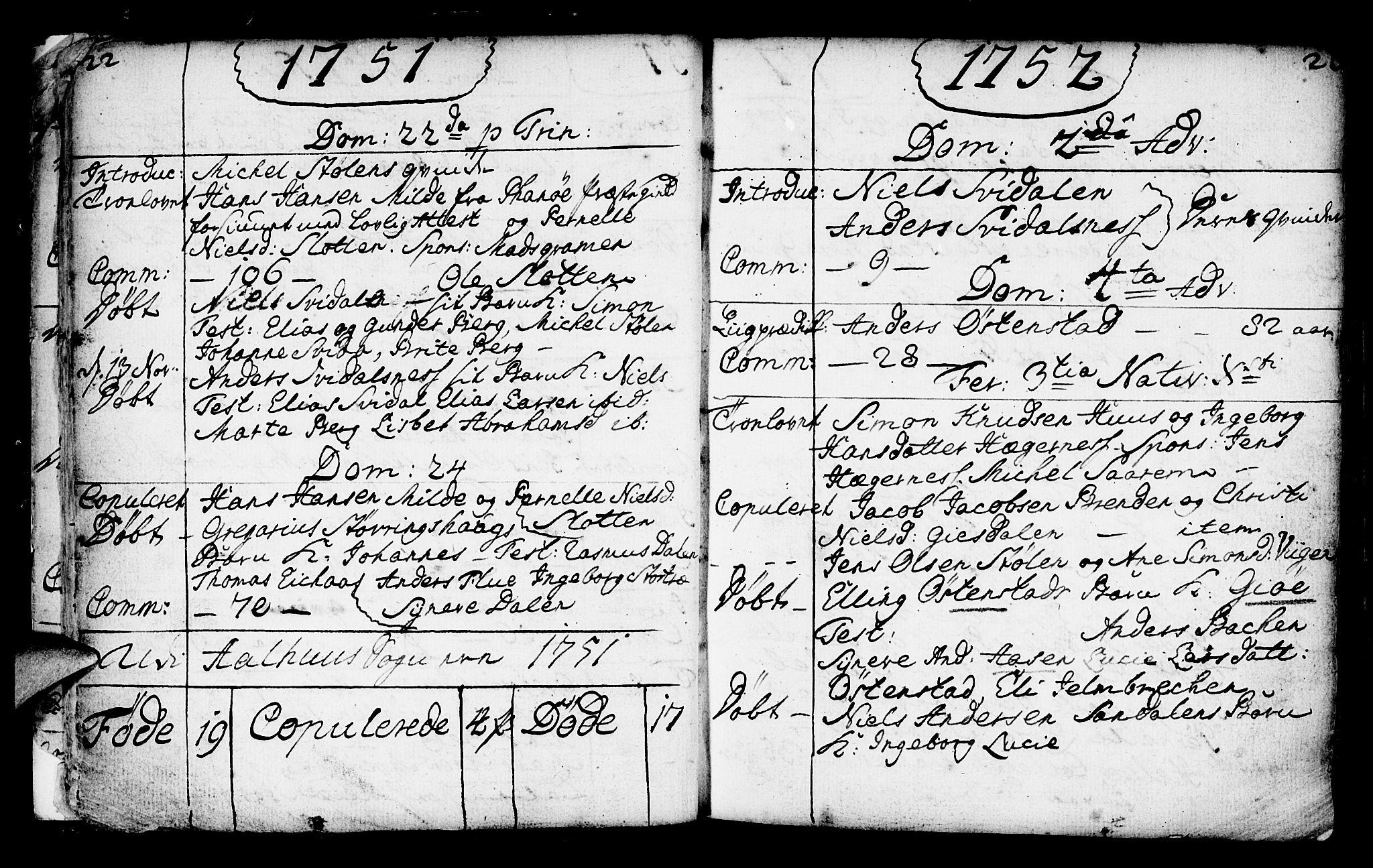 SAB, Jølster Sokneprestembete, Ministerialbok nr. A 3, 1748-1789, s. 22-23