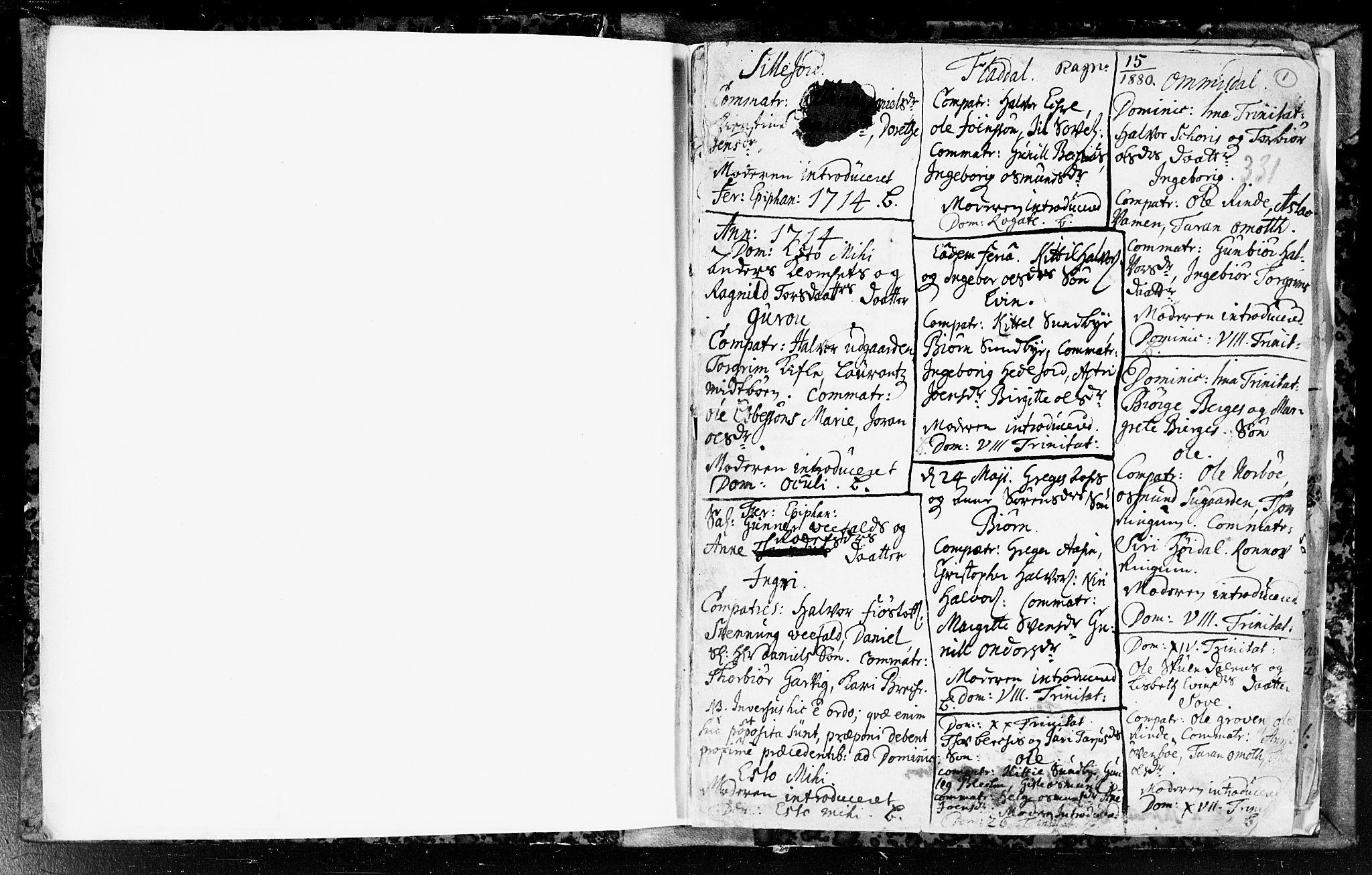 SAKO, Seljord kirkebøker, F/Fa/L0003: Ministerialbok nr. I 3, 1714-1725, s. 1