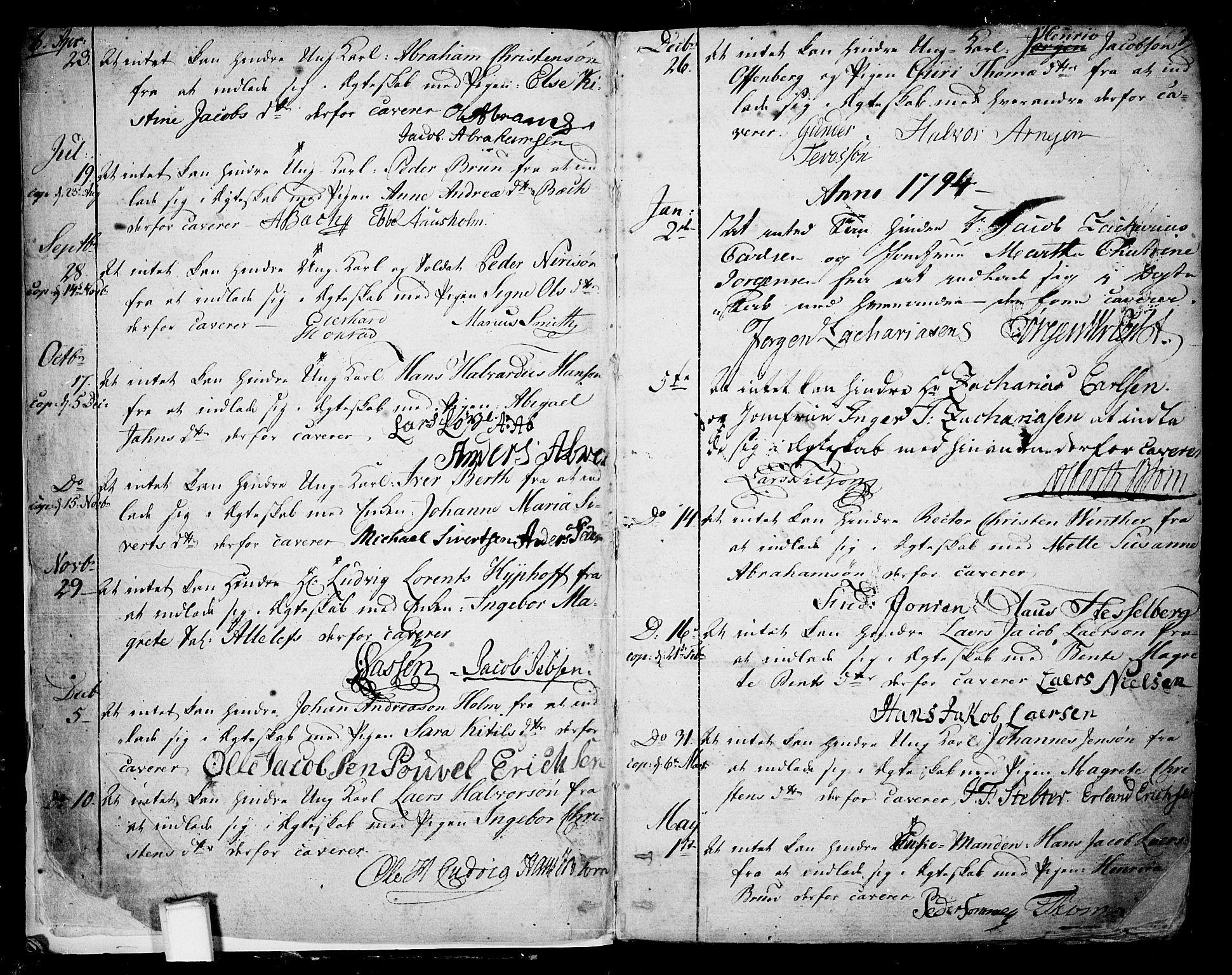 SAKO, Skien kirkebøker, F/Fa/L0004: Ministerialbok nr. 4, 1792-1814, s. 6-7