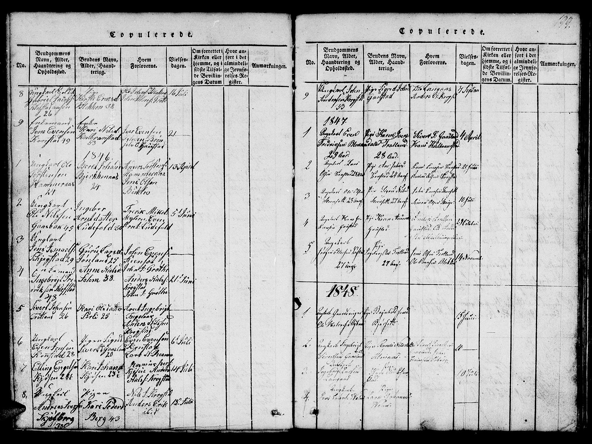 SAT, Ministerialprotokoller, klokkerbøker og fødselsregistre - Sør-Trøndelag, 694/L1130: Klokkerbok nr. 694C02, 1816-1857, s. 199
