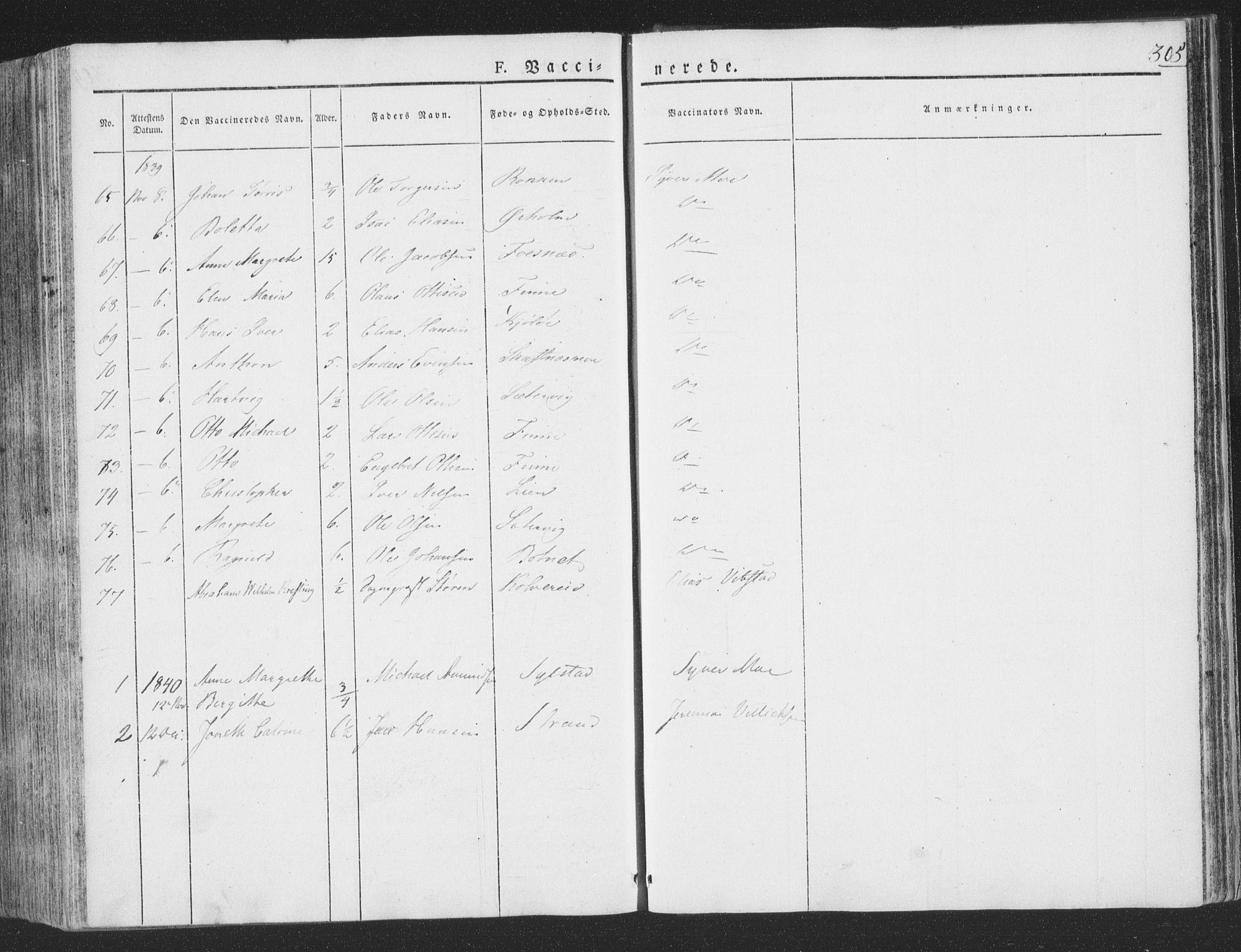 SAT, Ministerialprotokoller, klokkerbøker og fødselsregistre - Nord-Trøndelag, 780/L0639: Ministerialbok nr. 780A04, 1830-1844, s. 305