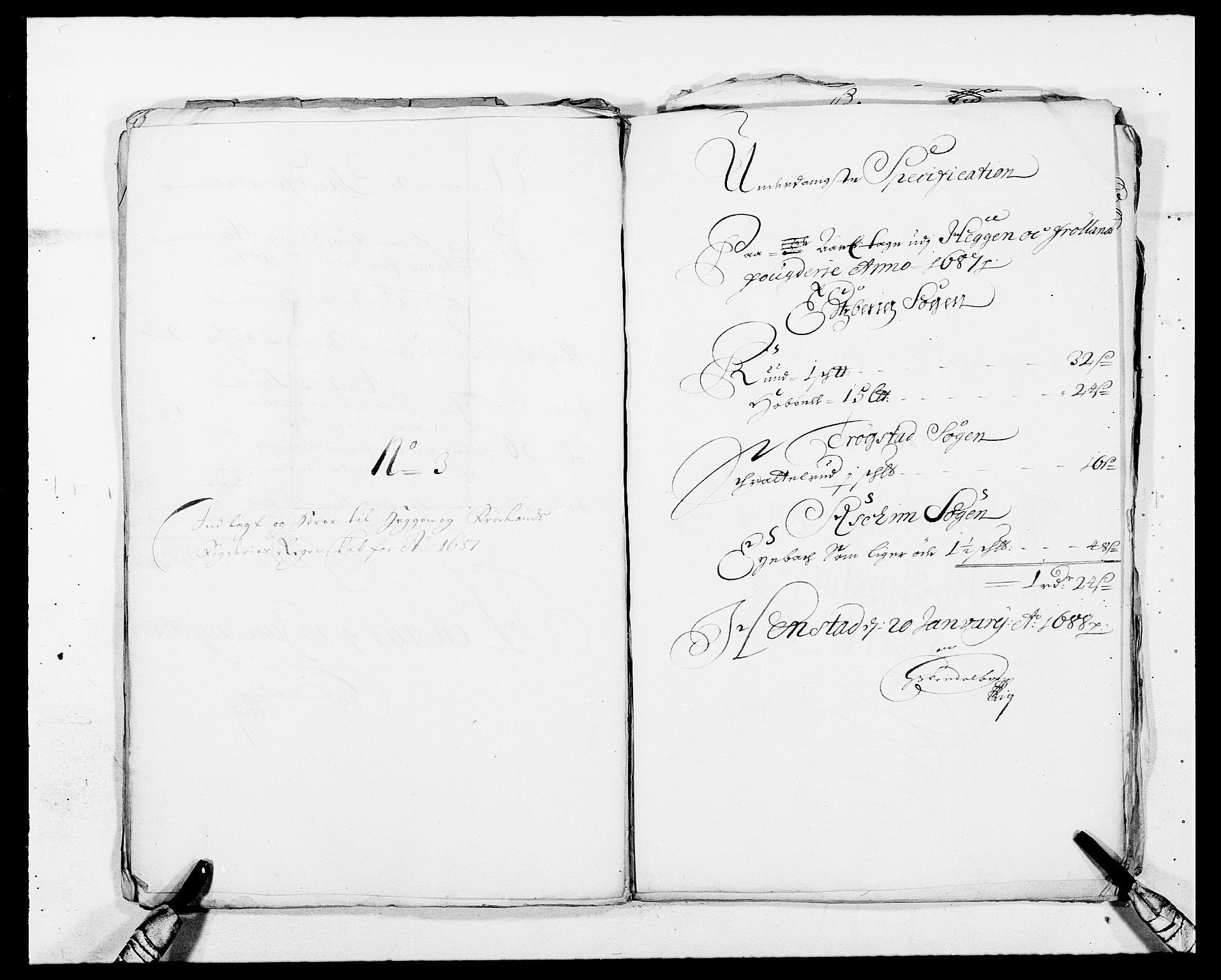 RA, Rentekammeret inntil 1814, Reviderte regnskaper, Fogderegnskap, R06/L0282: Fogderegnskap Heggen og Frøland, 1687-1690, s. 35
