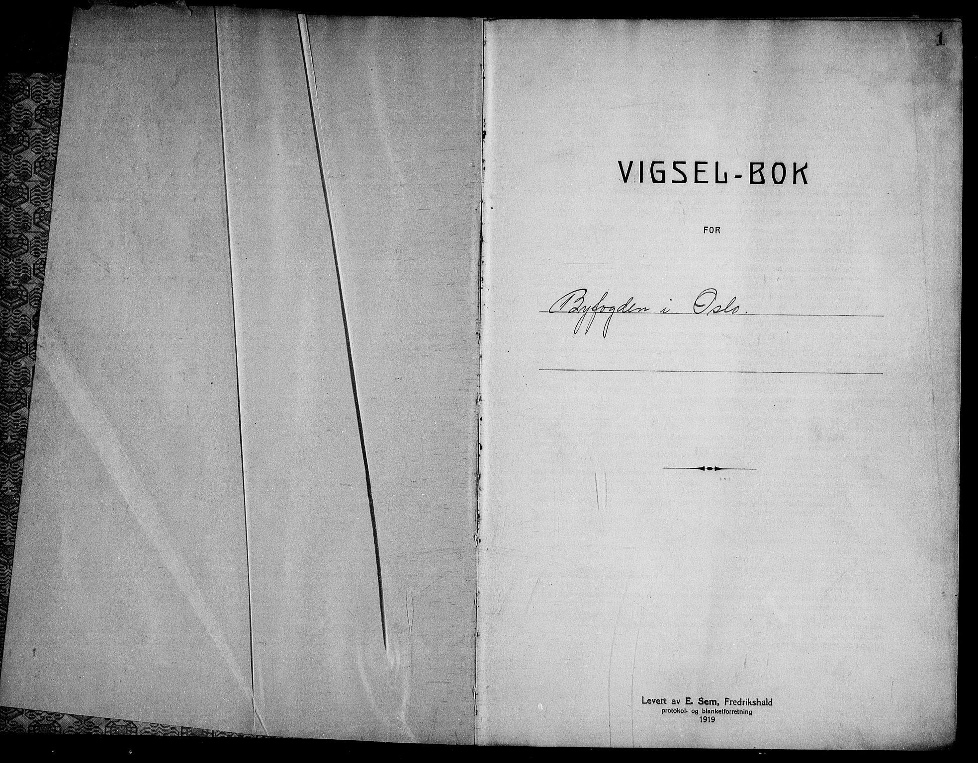 SAO, Oslo byfogd avd. I, L/Lb/Lbb/L0020: Notarialprotokoll, rekke II: Vigsler, 1929-1930, s. 1a