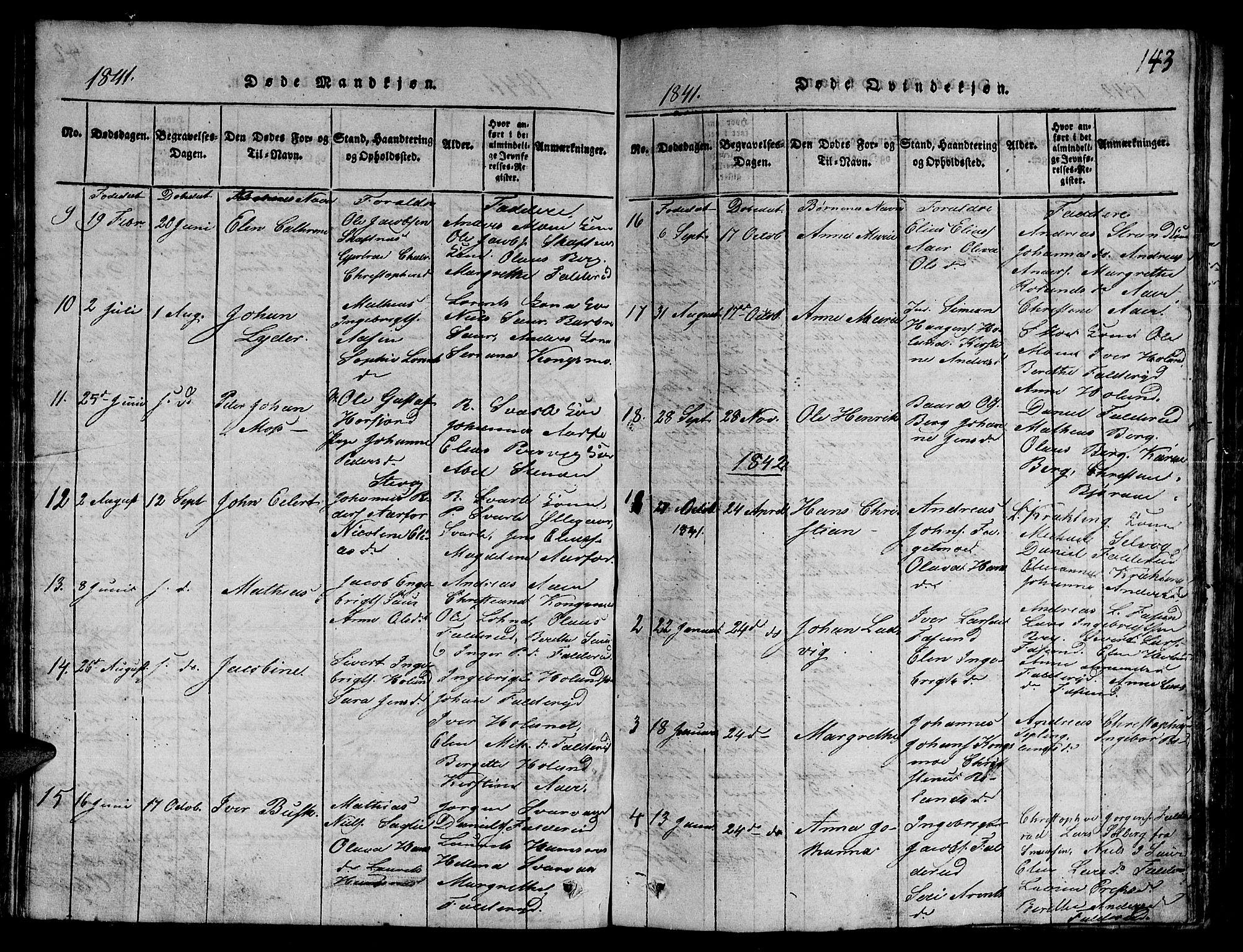 SAT, Ministerialprotokoller, klokkerbøker og fødselsregistre - Nord-Trøndelag, 780/L0648: Klokkerbok nr. 780C01 /3, 1815-1877, s. 143