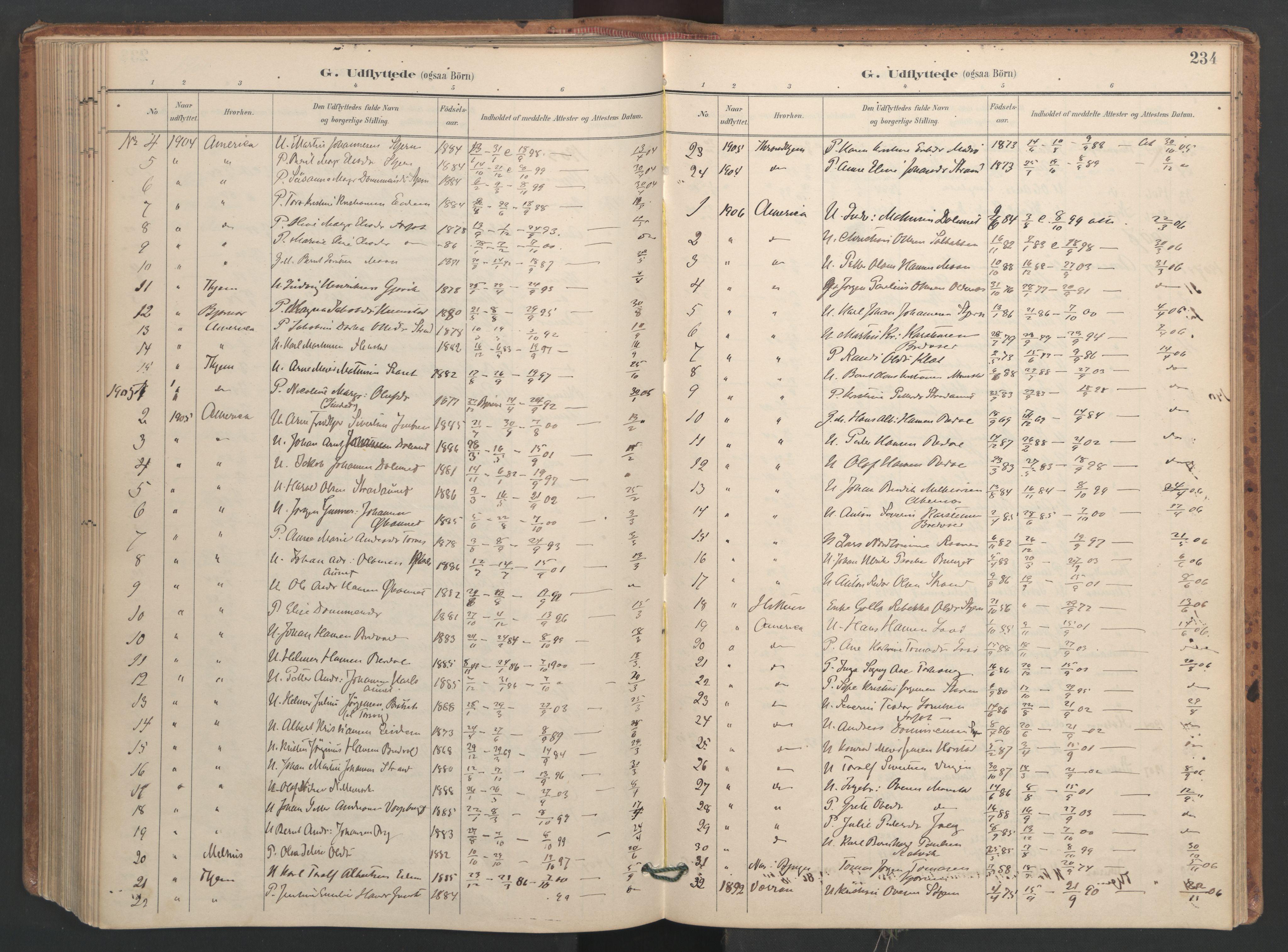 SAT, Ministerialprotokoller, klokkerbøker og fødselsregistre - Sør-Trøndelag, 655/L0681: Ministerialbok nr. 655A10, 1895-1907, s. 234