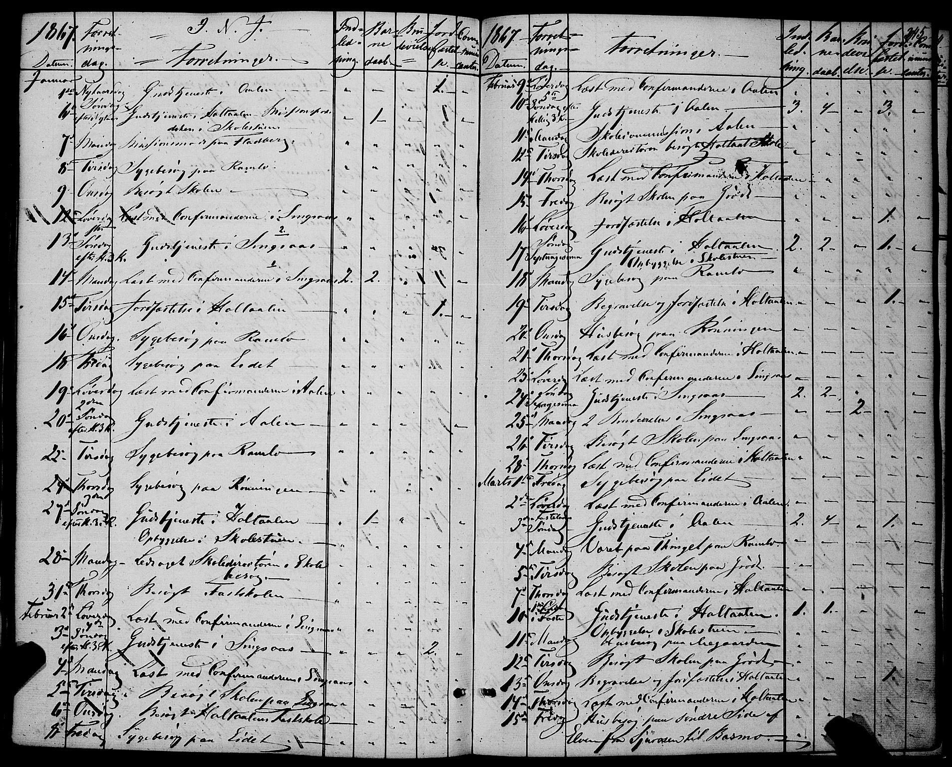 SAT, Ministerialprotokoller, klokkerbøker og fødselsregistre - Sør-Trøndelag, 685/L0966: Ministerialbok nr. 685A07 /1, 1860-1869, s. 345
