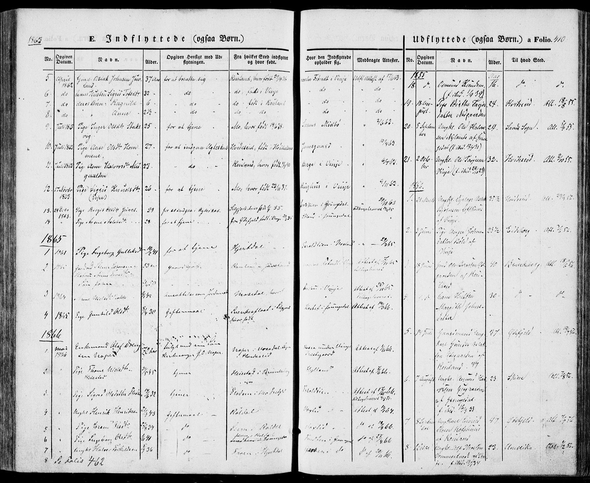 SAKO, Vinje kirkebøker, F/Fa/L0004: Ministerialbok nr. I 4, 1843-1869, s. 410